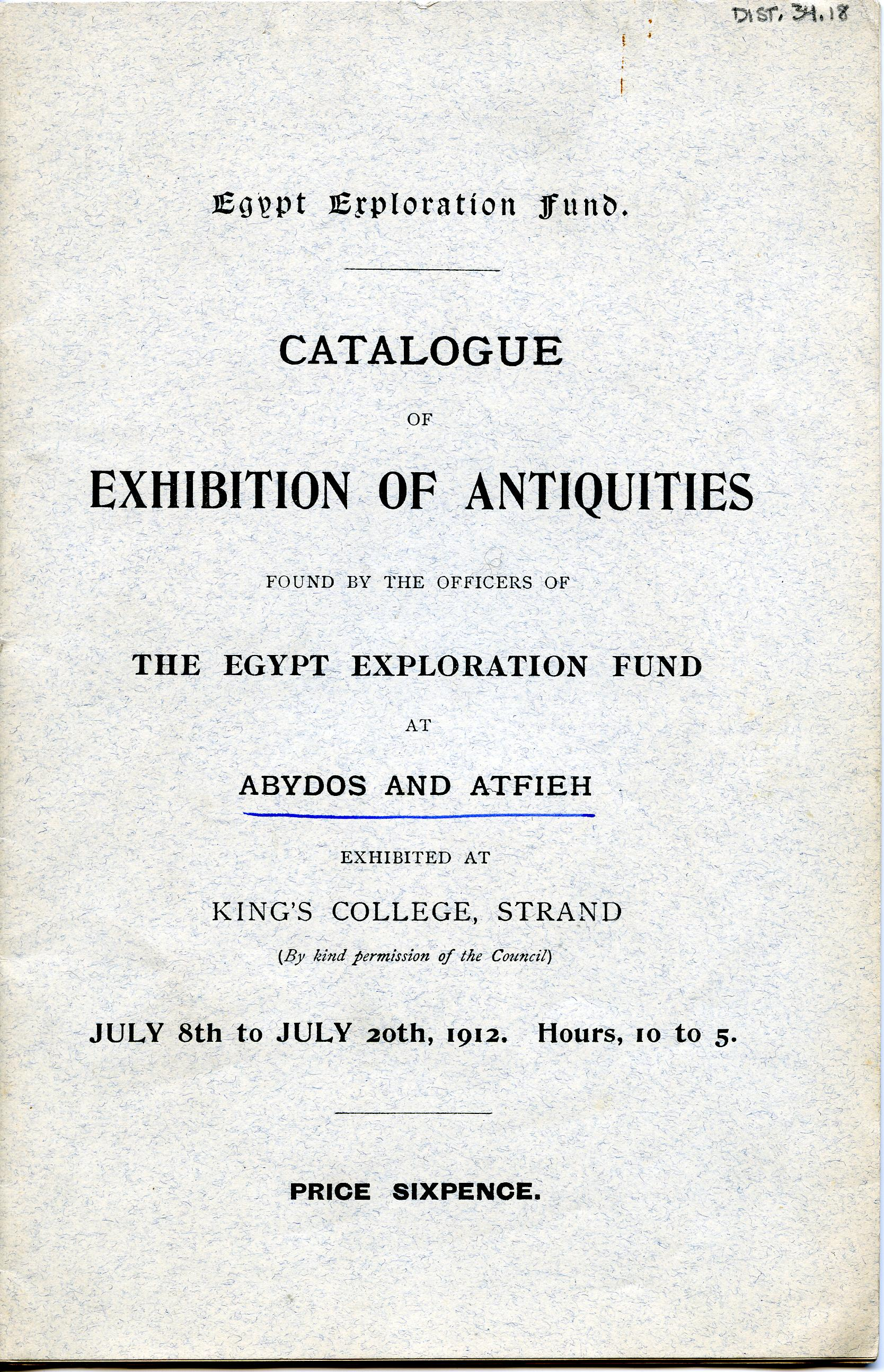 1910-11 Abydos, Atfieh DIST.34.18a