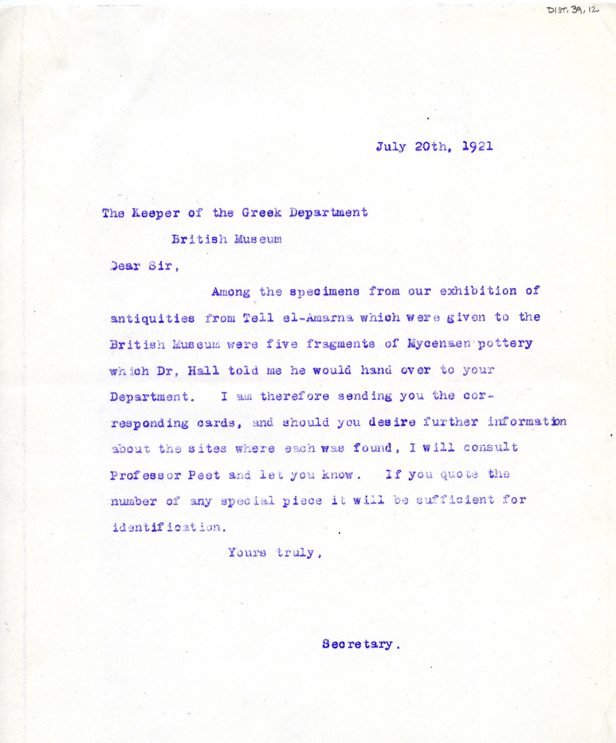 1921-22 Tell el-Amarna DIST.39.12