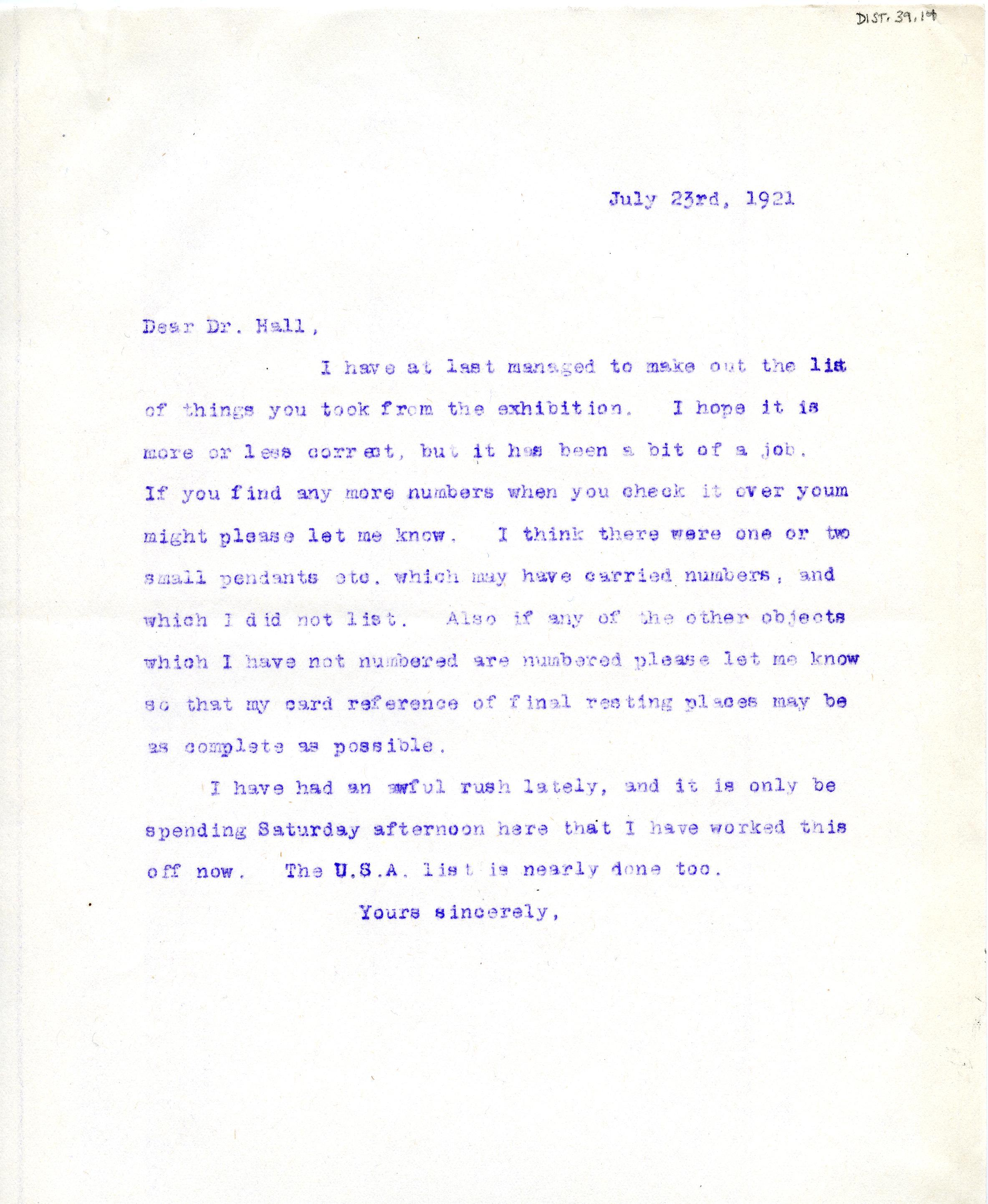 1921-22 Tell el-Amarna DIST.39.14
