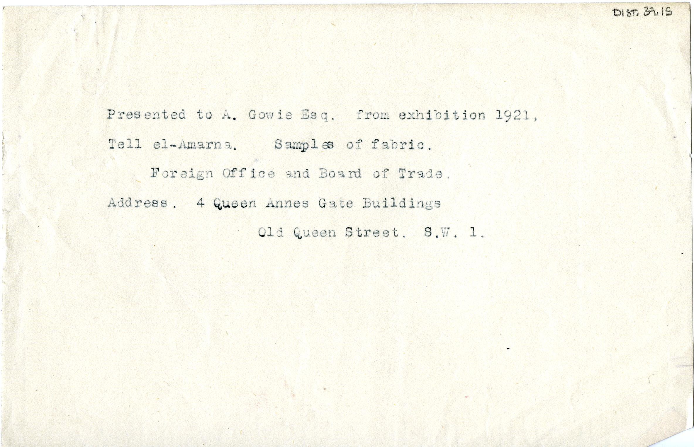 1921-22 Tell el-Amarna DIST.39.15