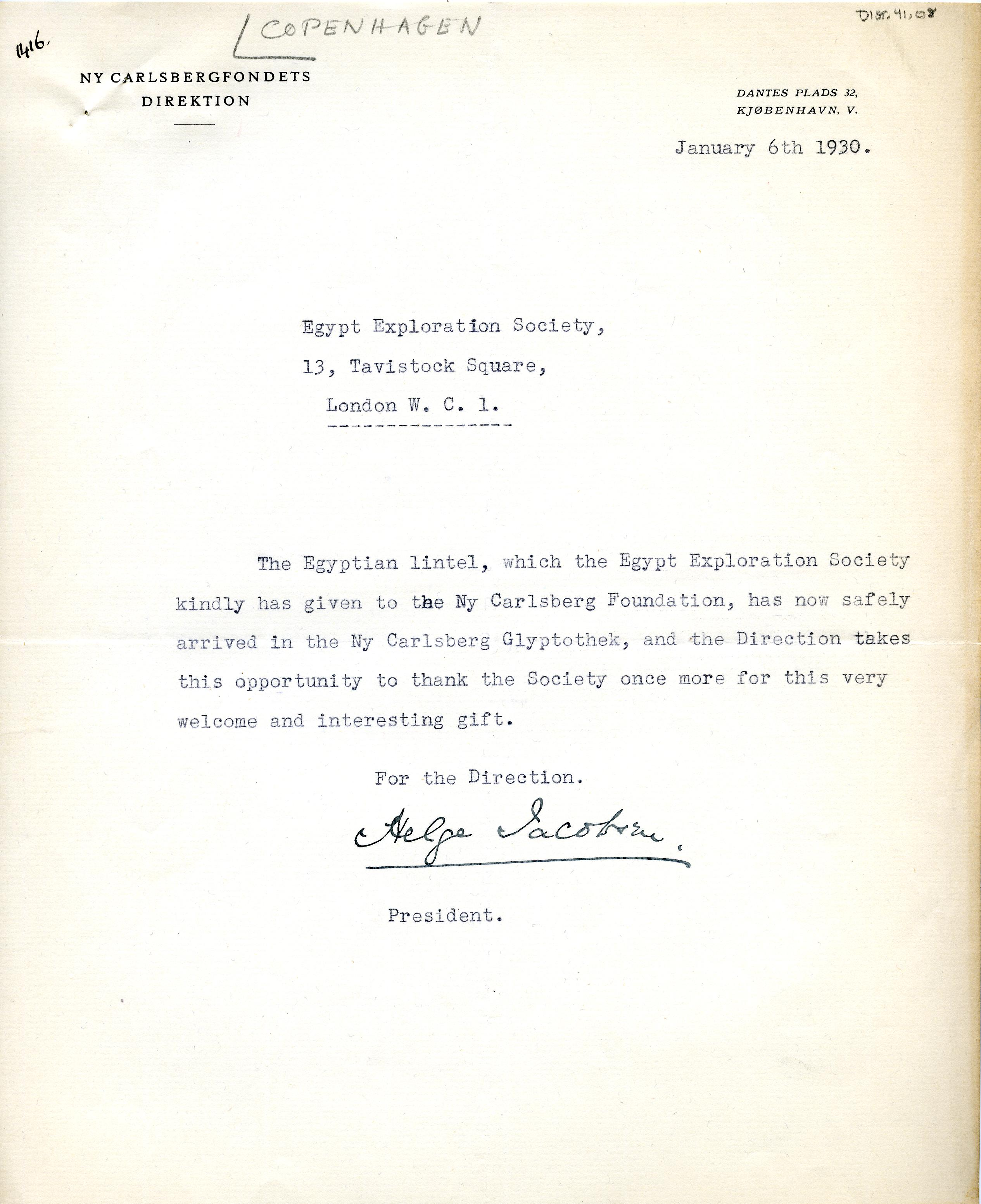 1922-76 Miscellaneous correspondence with museums DIST.41.08