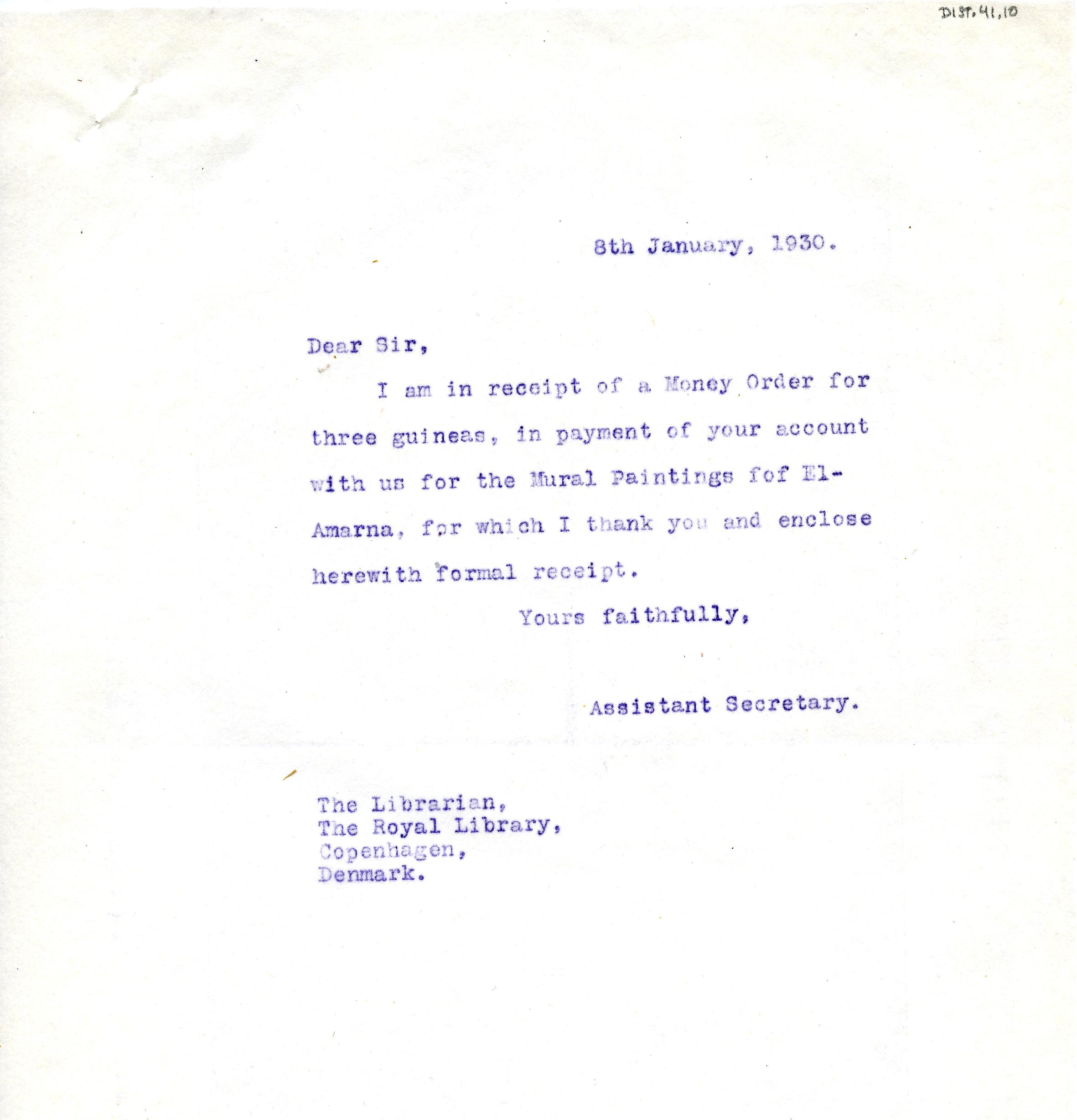 1922-76 Miscellaneous correspondence with museums DIST.41.10