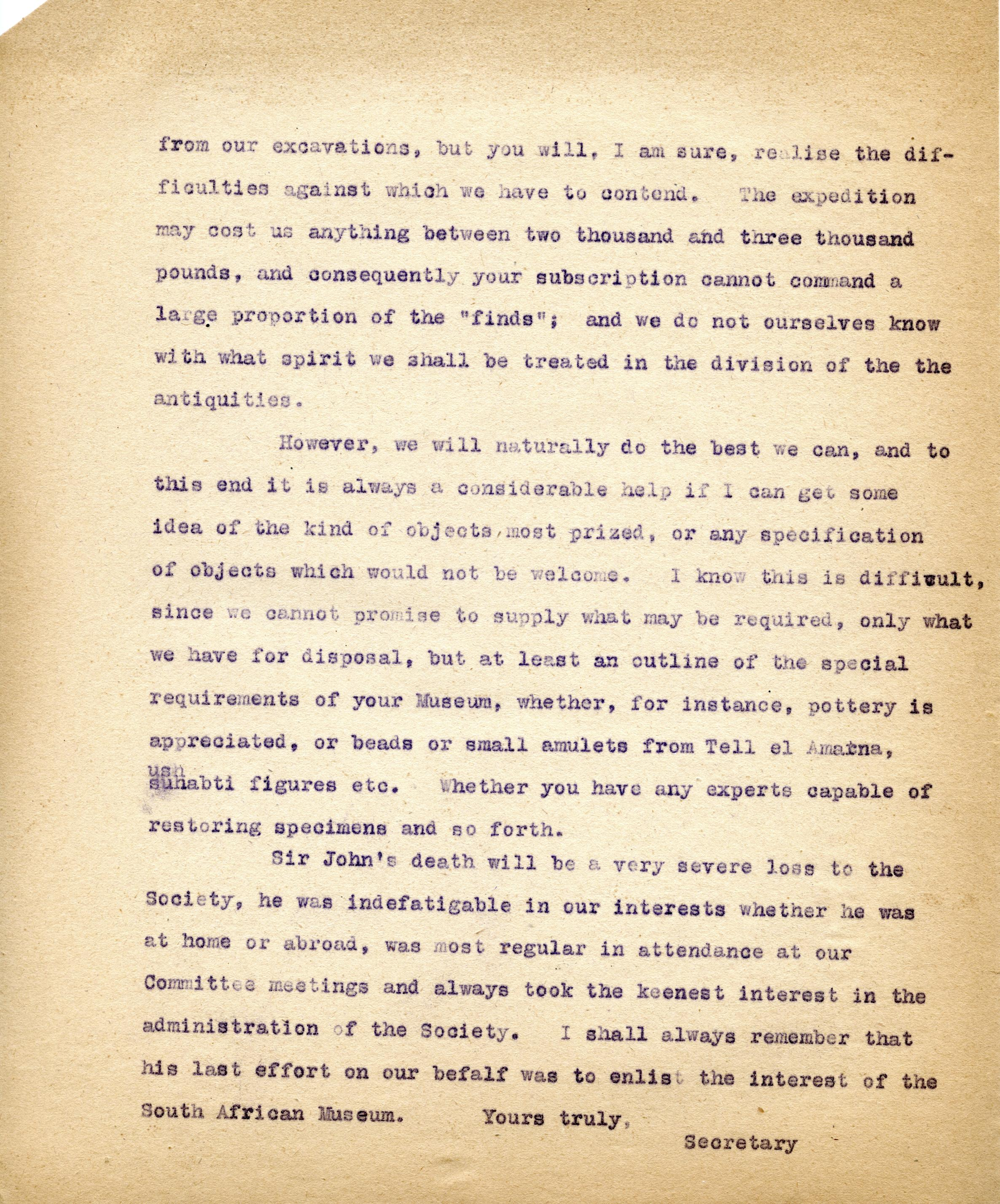 1922-71 Miscellaneous correspondence with museums DIST.42.14b