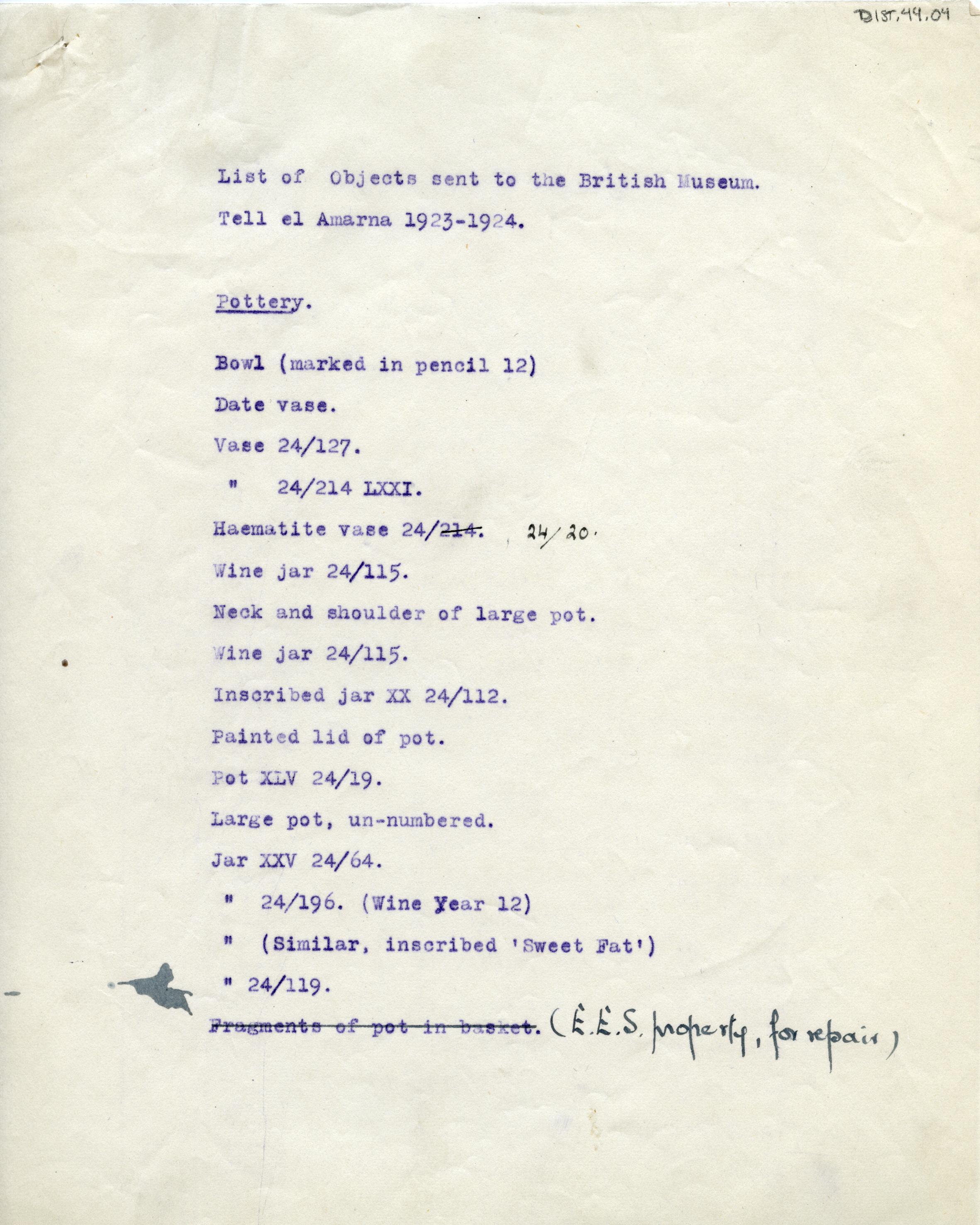 1923-25 el-Amarna DIST.44.04a