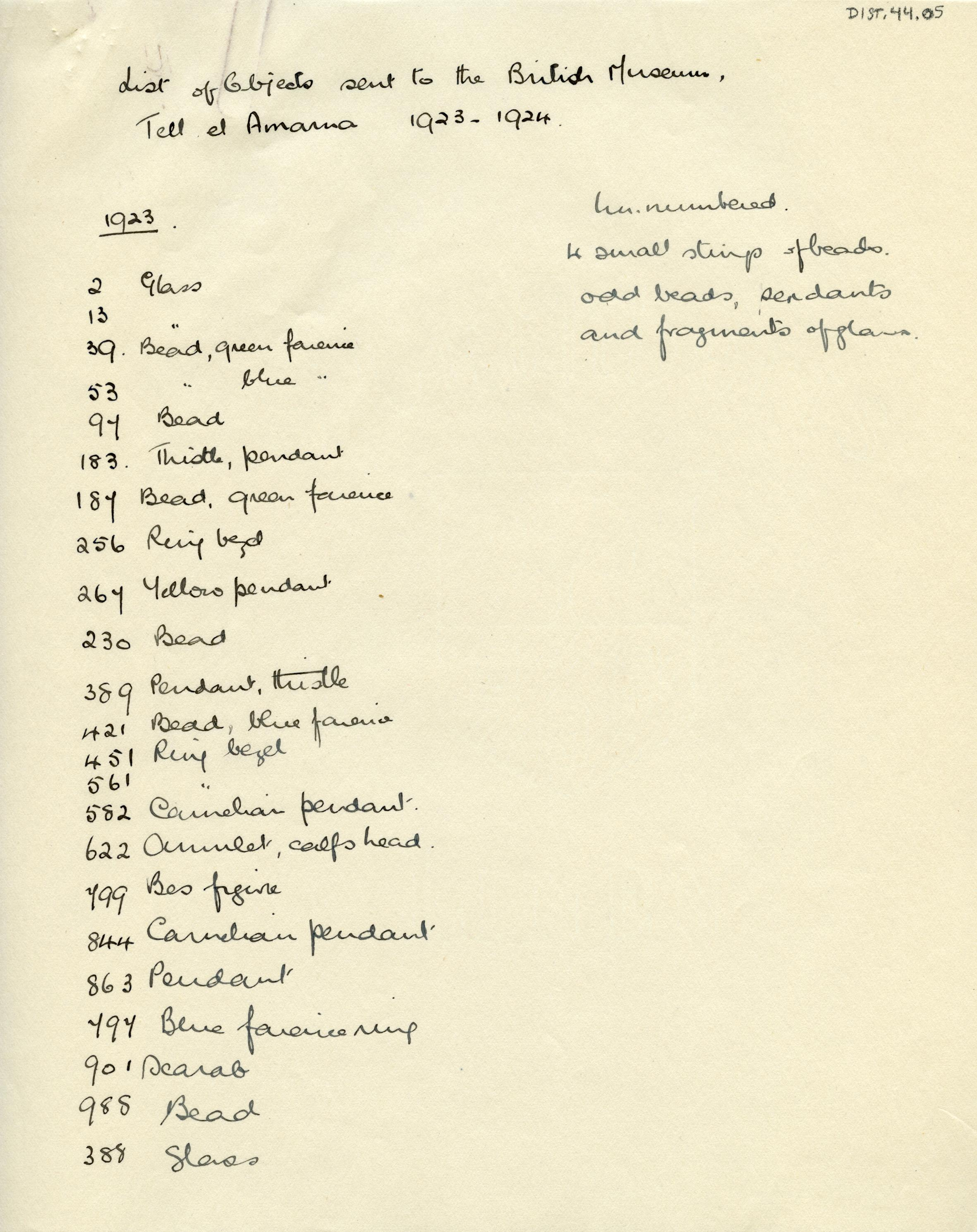1923-25 el-Amarna DIST.44.05