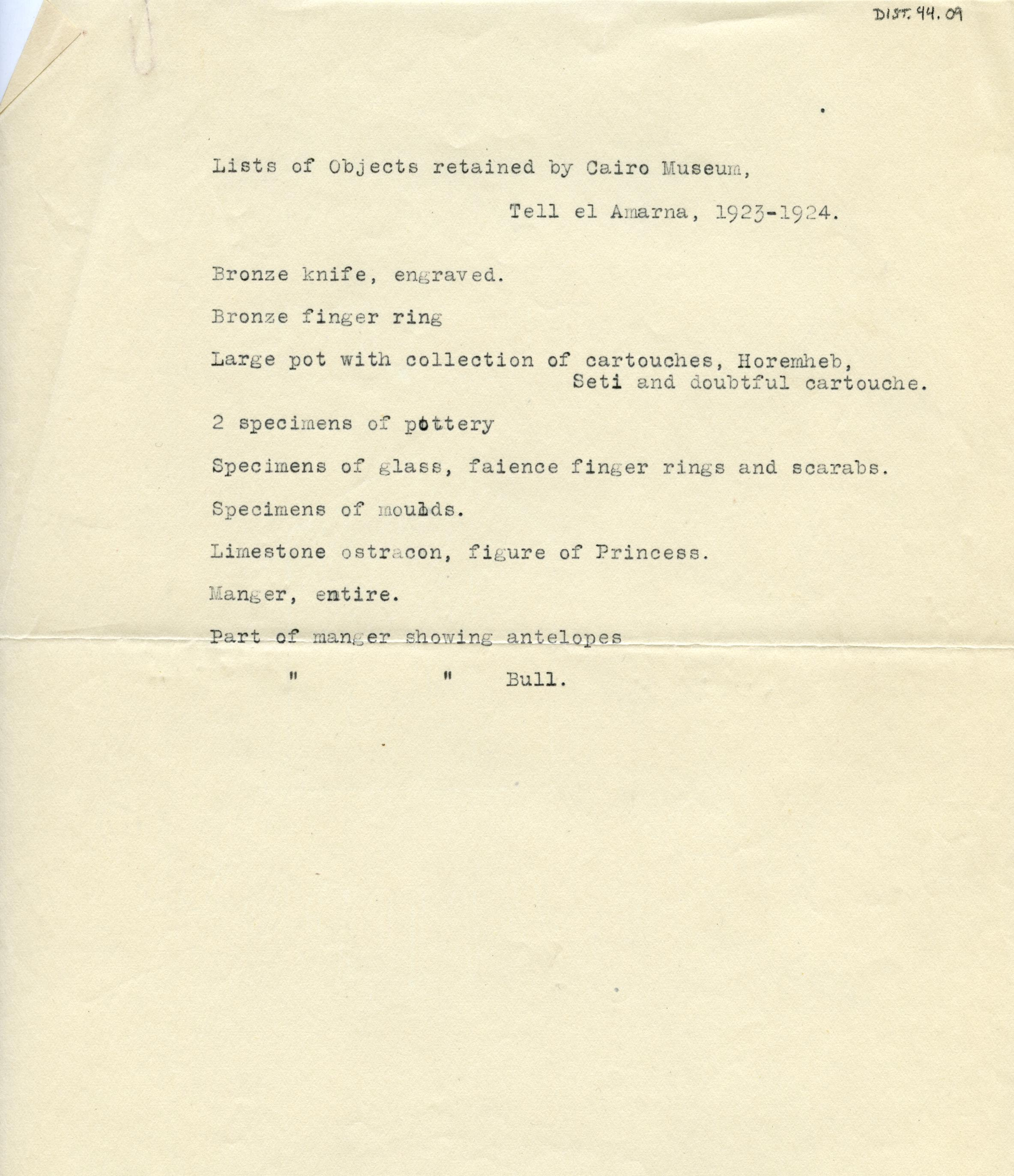 1923-25 el-Amarna DIST.44.09