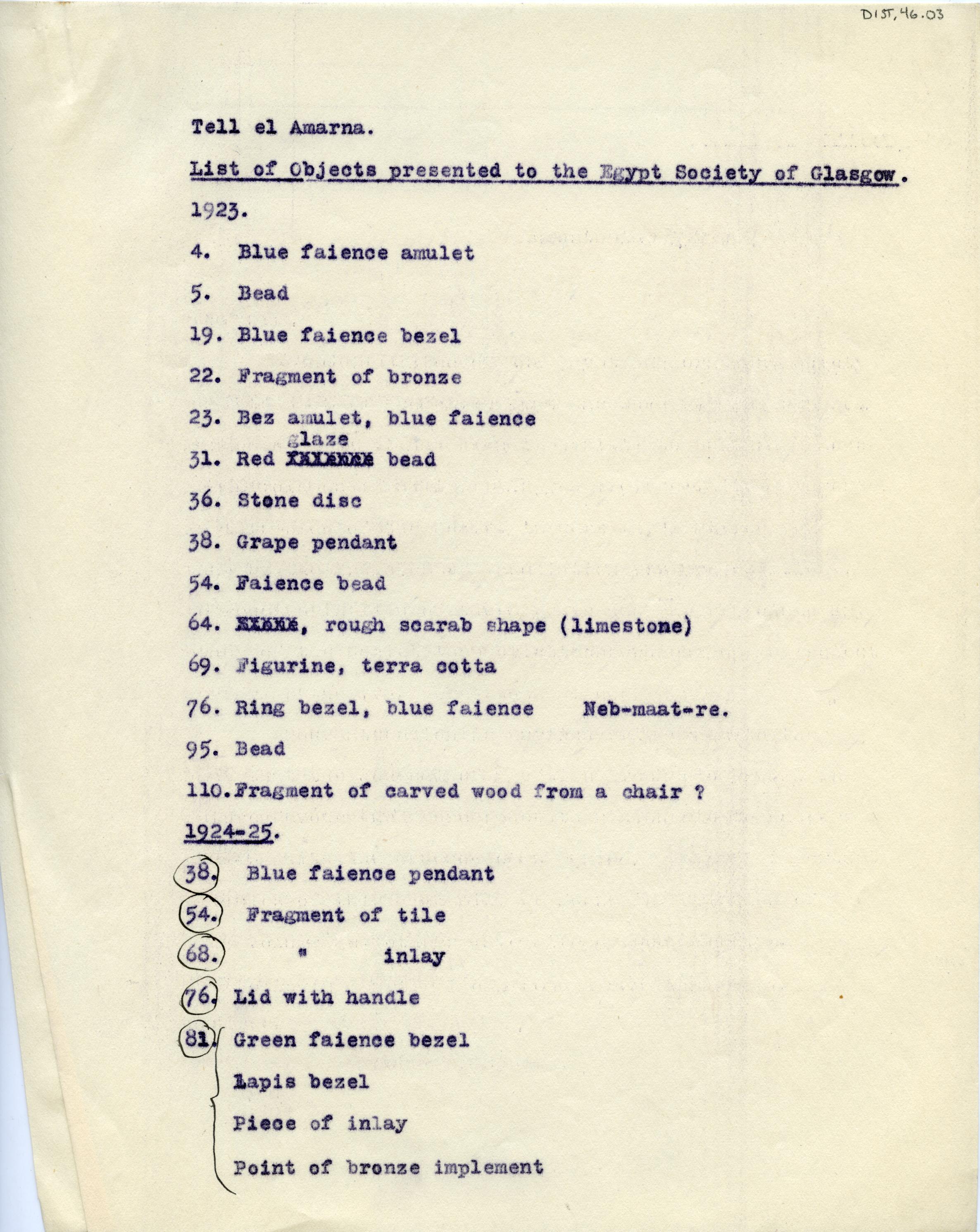 1921-25 el-Amarna DIST,46.03a