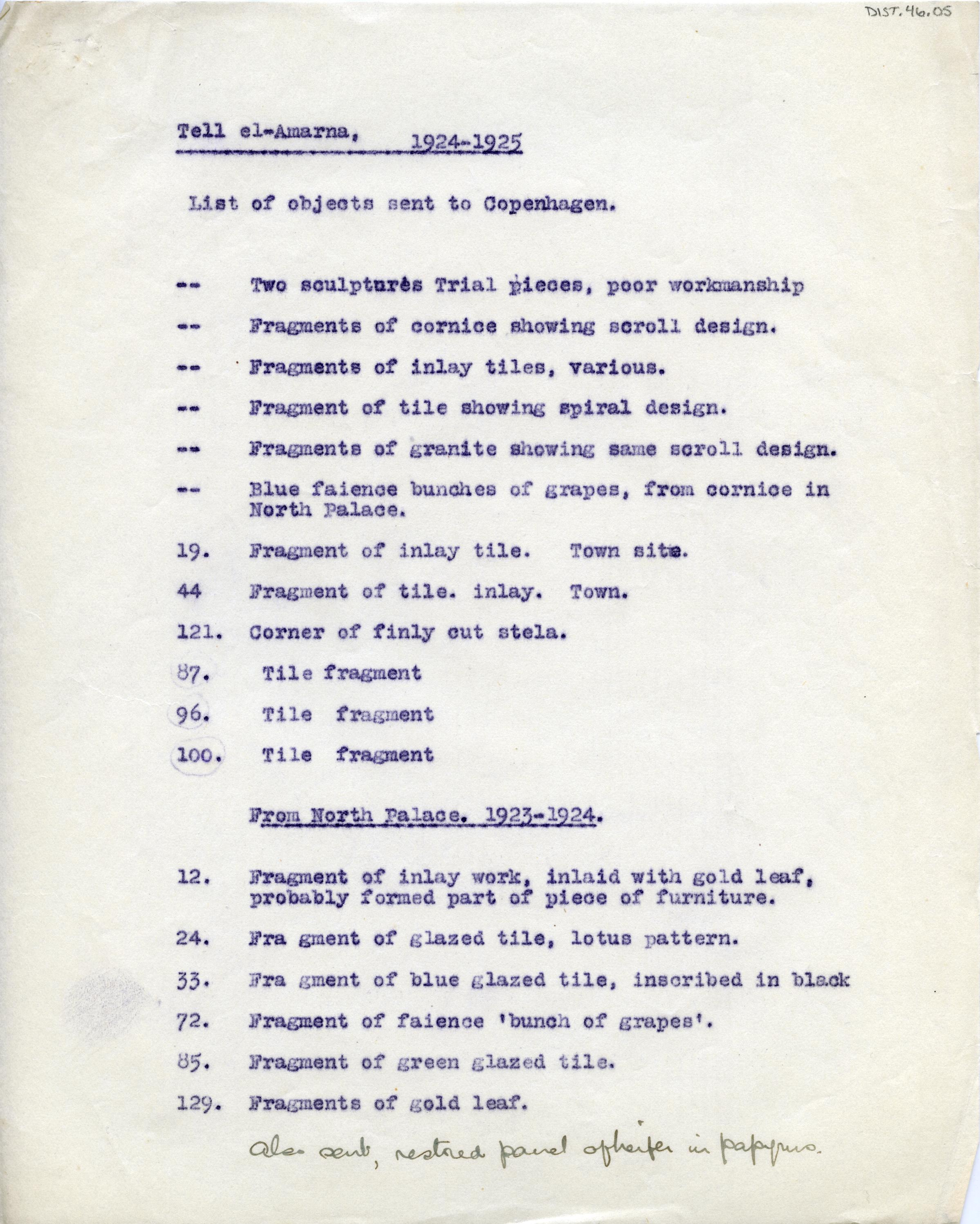 1921-25 el-Amarna DIST.46.05