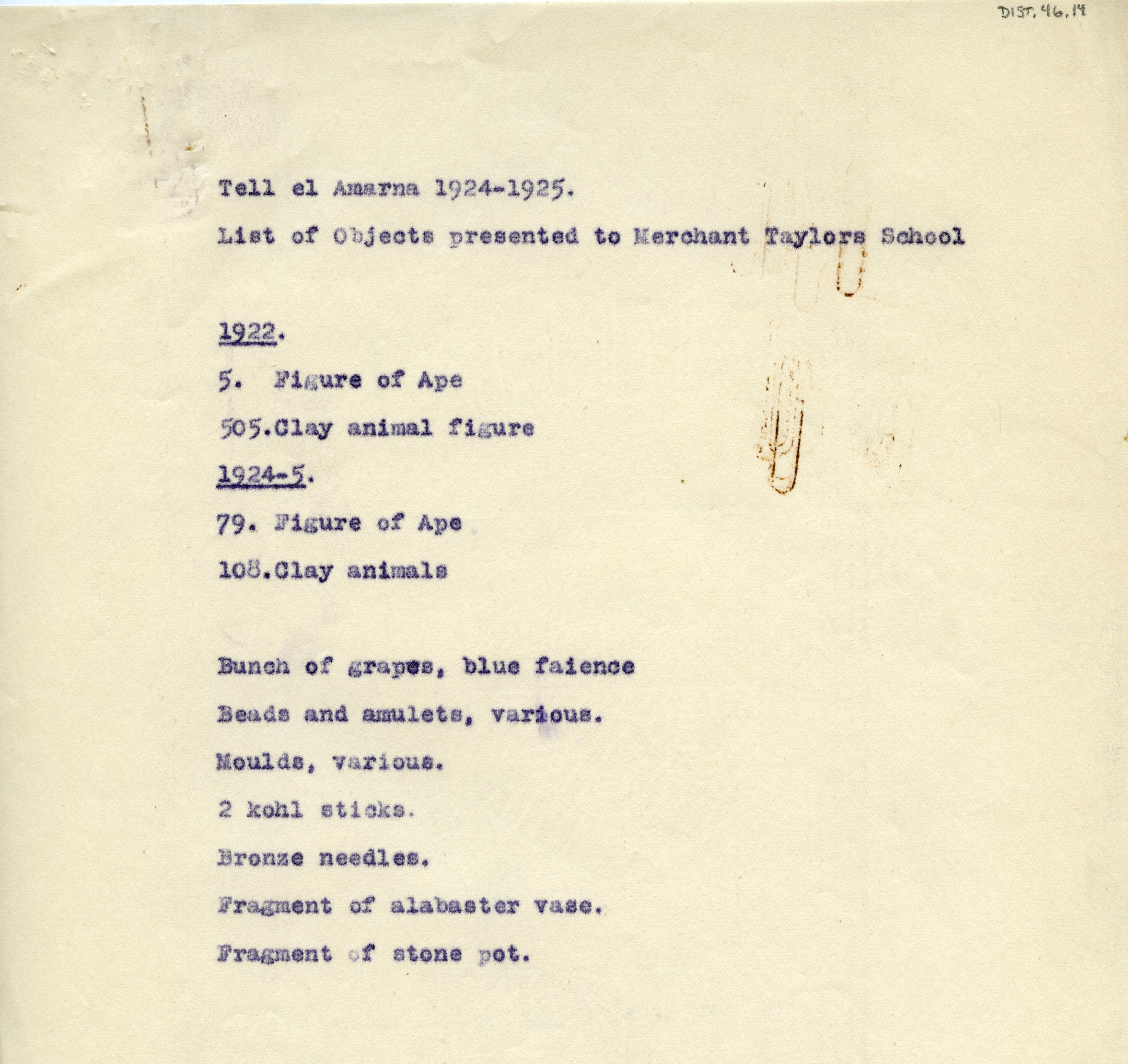 1921-25 el-Amarna DIST.46.14