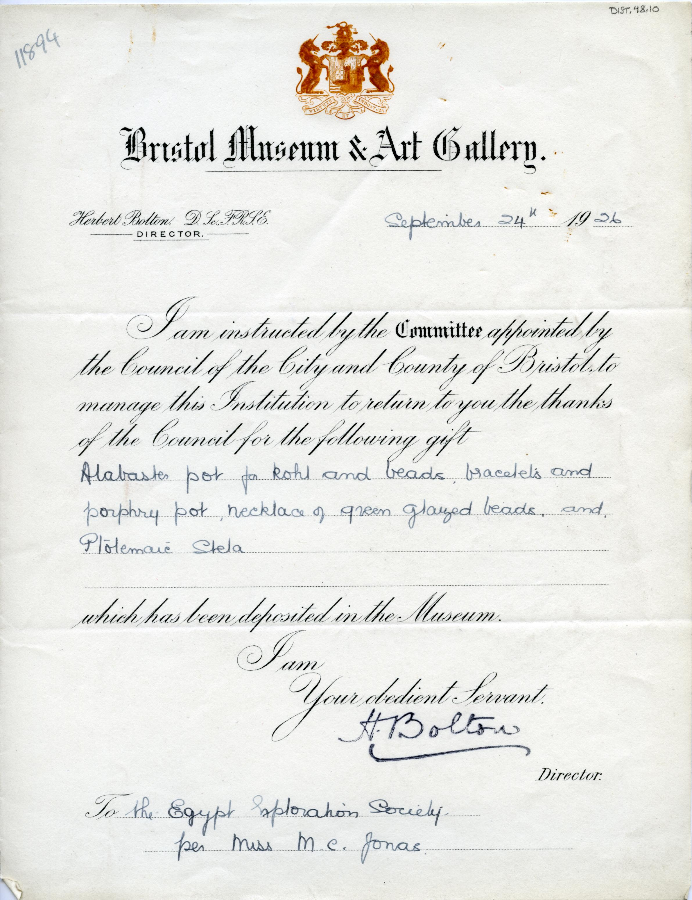 1925-26 Abydos DIST.48.10