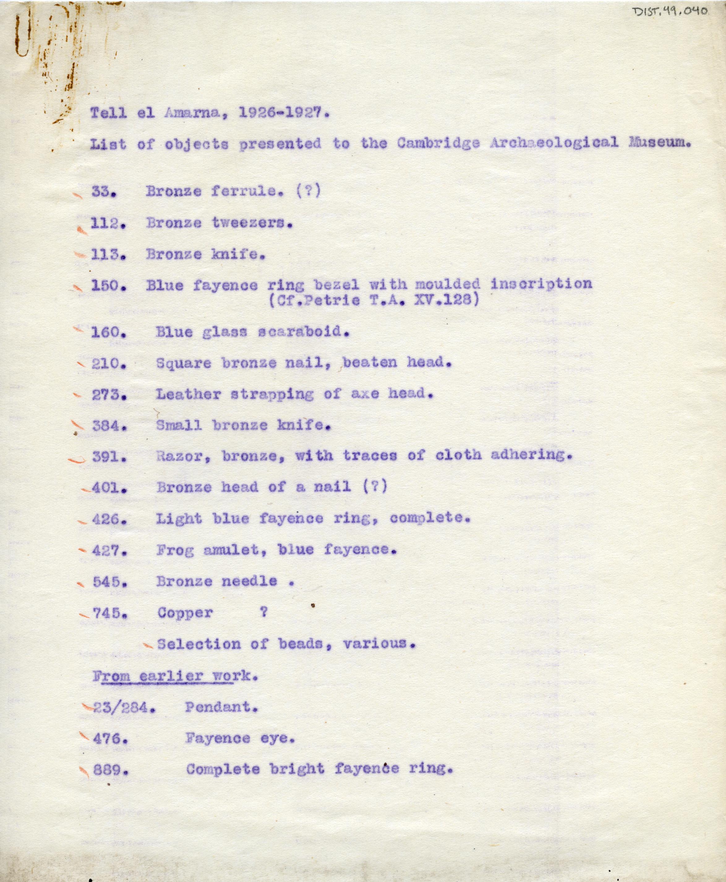 1926-27 el-Amarna DIST.49.040