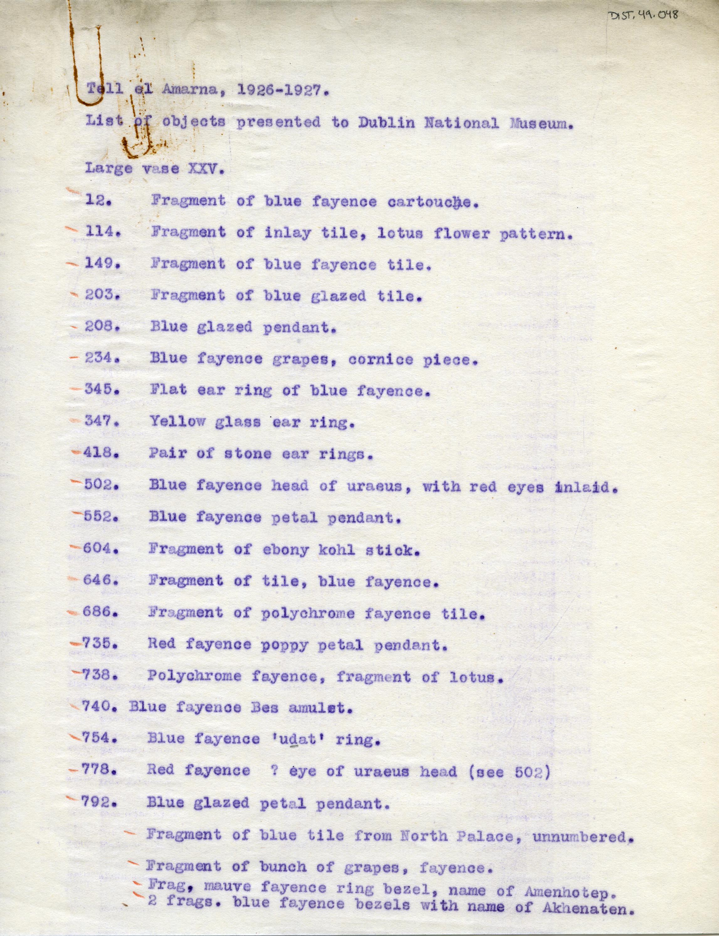 1926-27 el-Amarna DIST.49.048