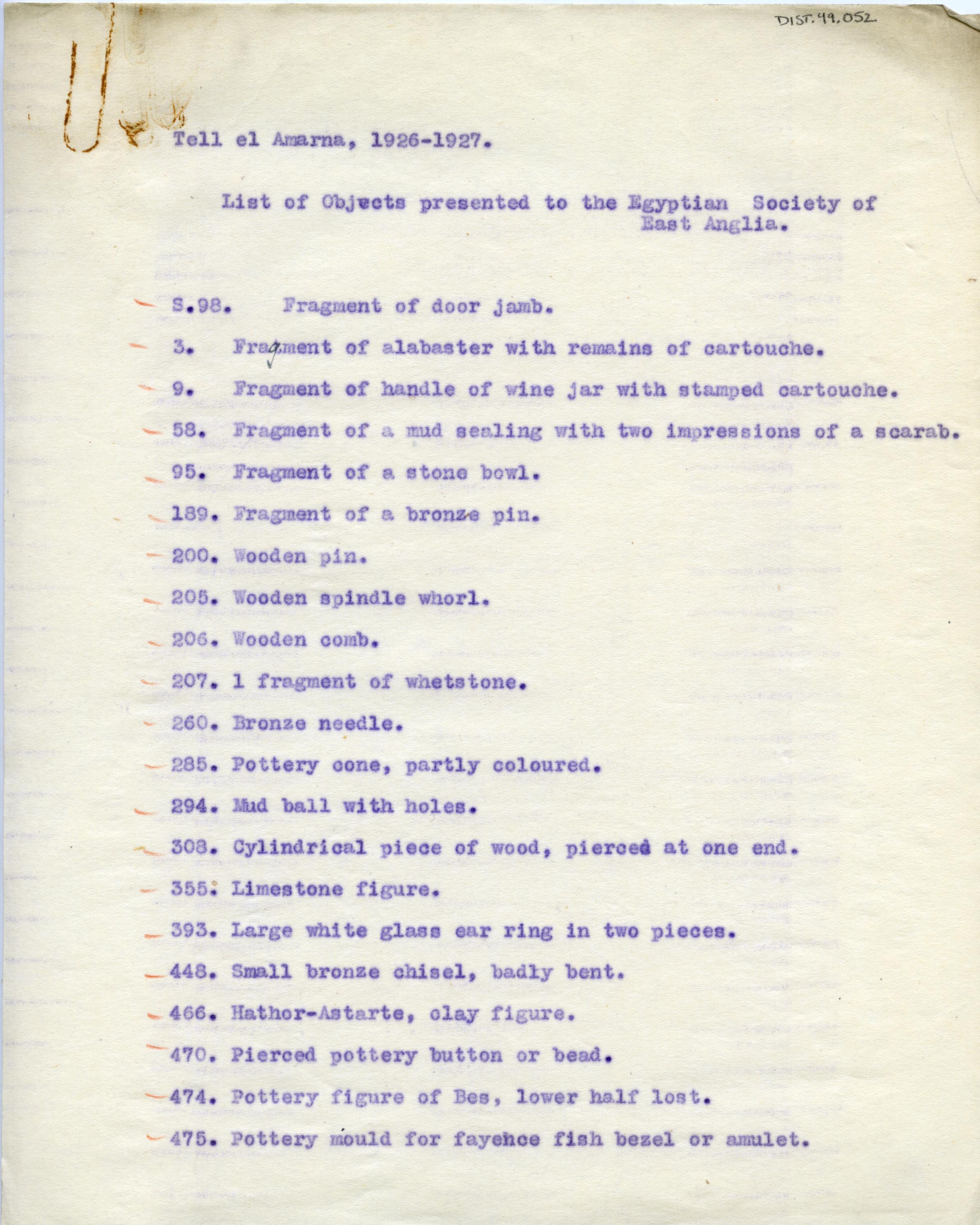 1926-27 el-Amarna DIST.49.052a