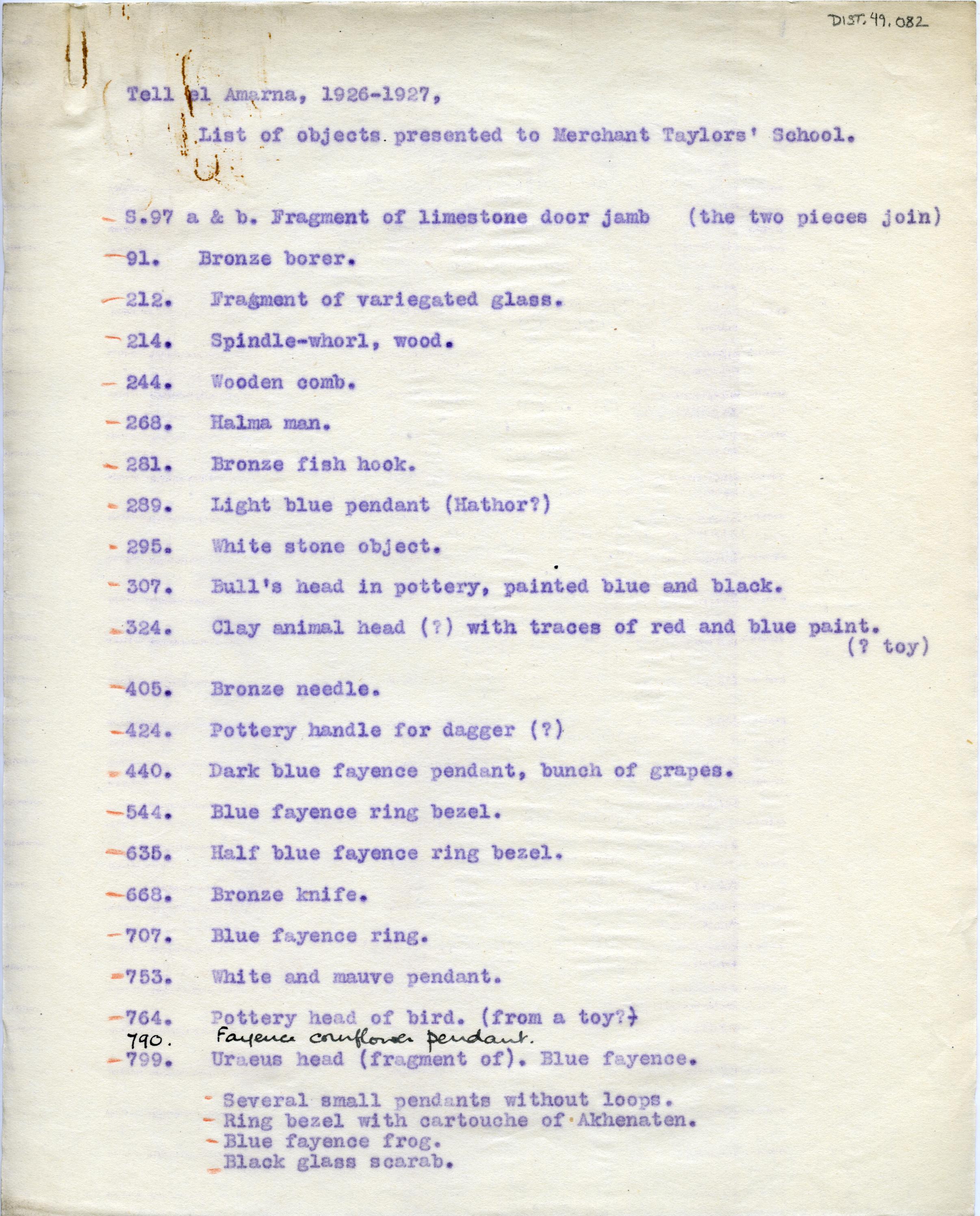 1926-27 el-Amarna DIST.49.082a