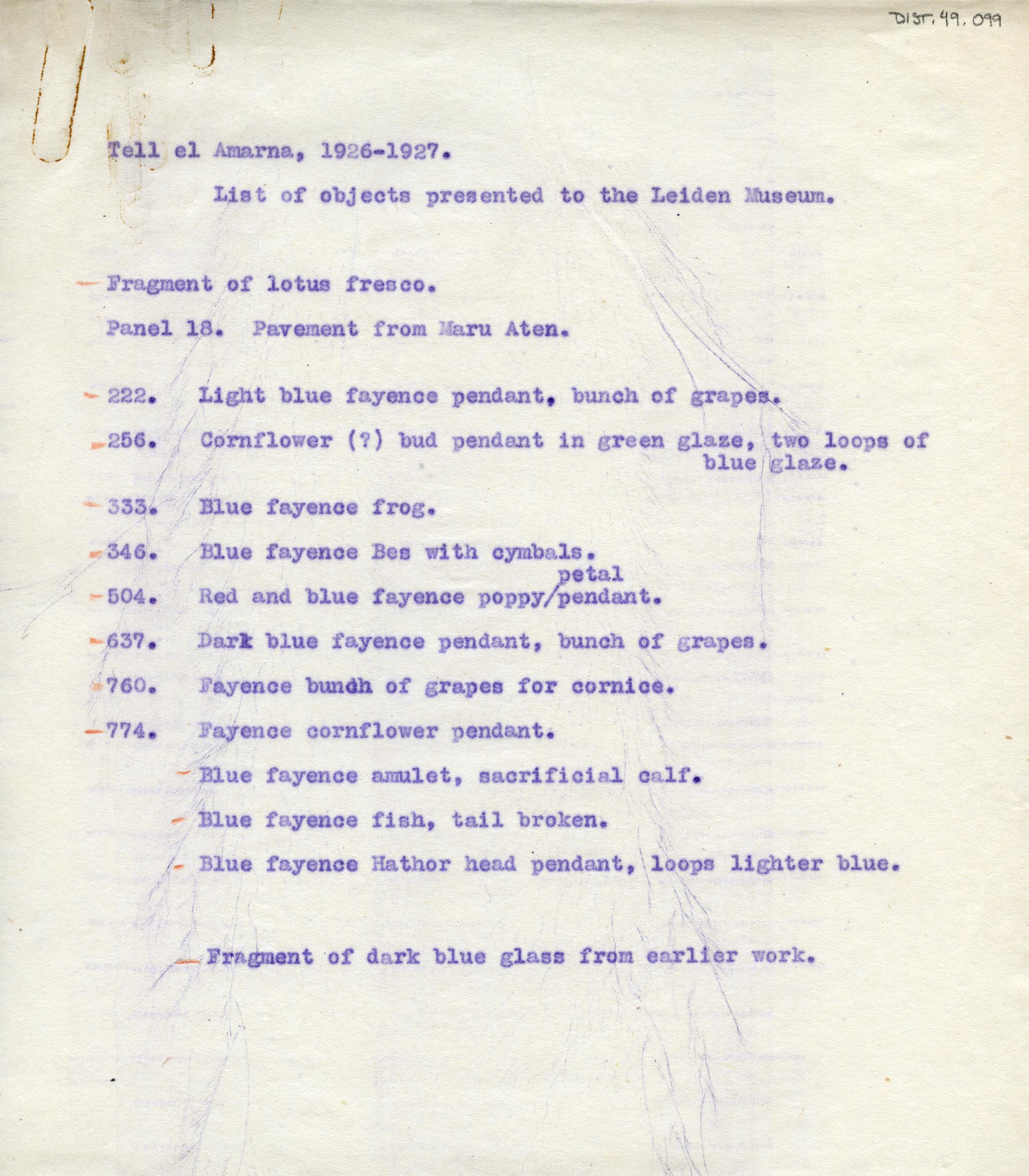 1926-27 el-Amarna DIST.49.099