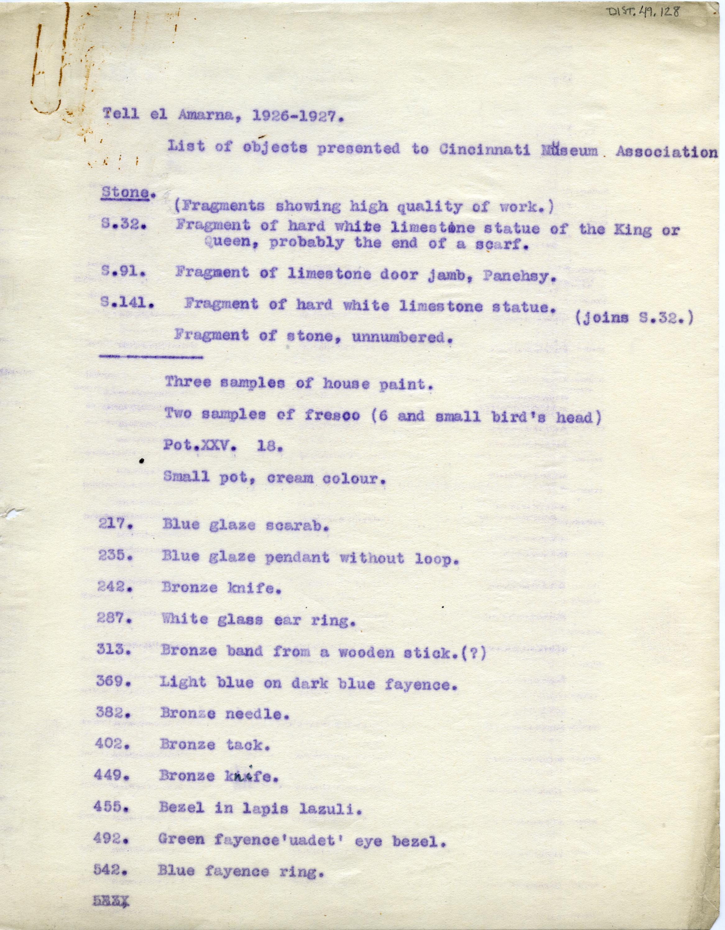 1926-27 el-Amarna DIST.49.128a