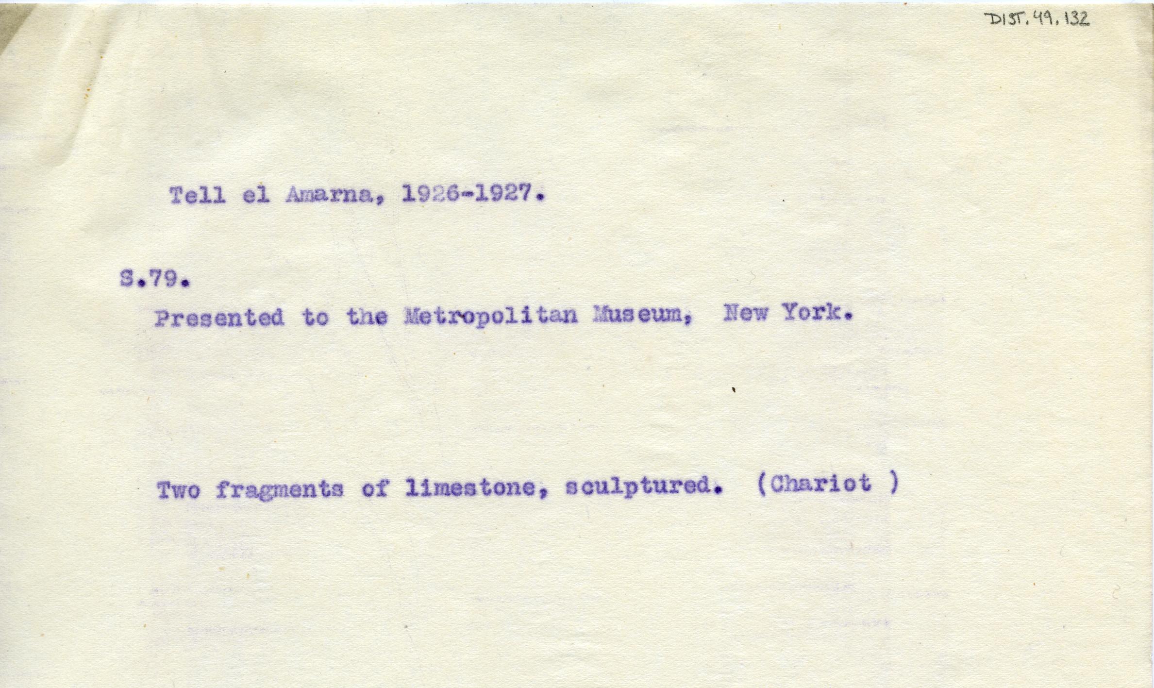 1926-27 el-Amarna DIST.49.132