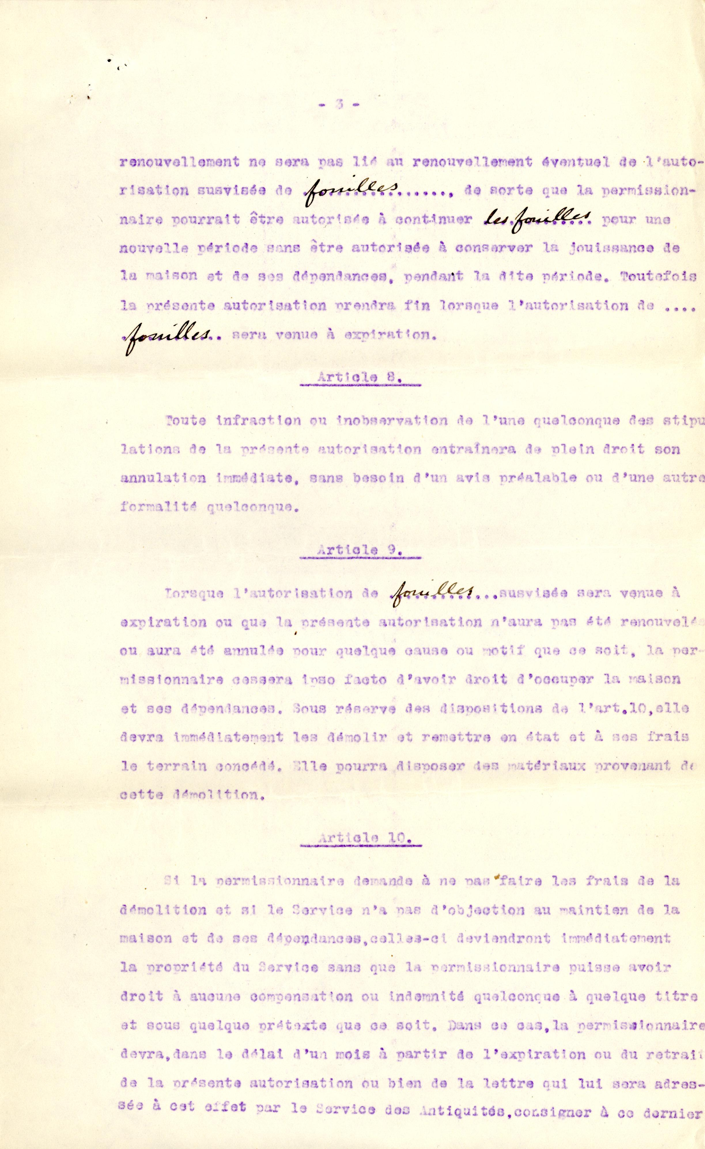 1926-39 correspondence with Antiquities Service DIST.50.09c