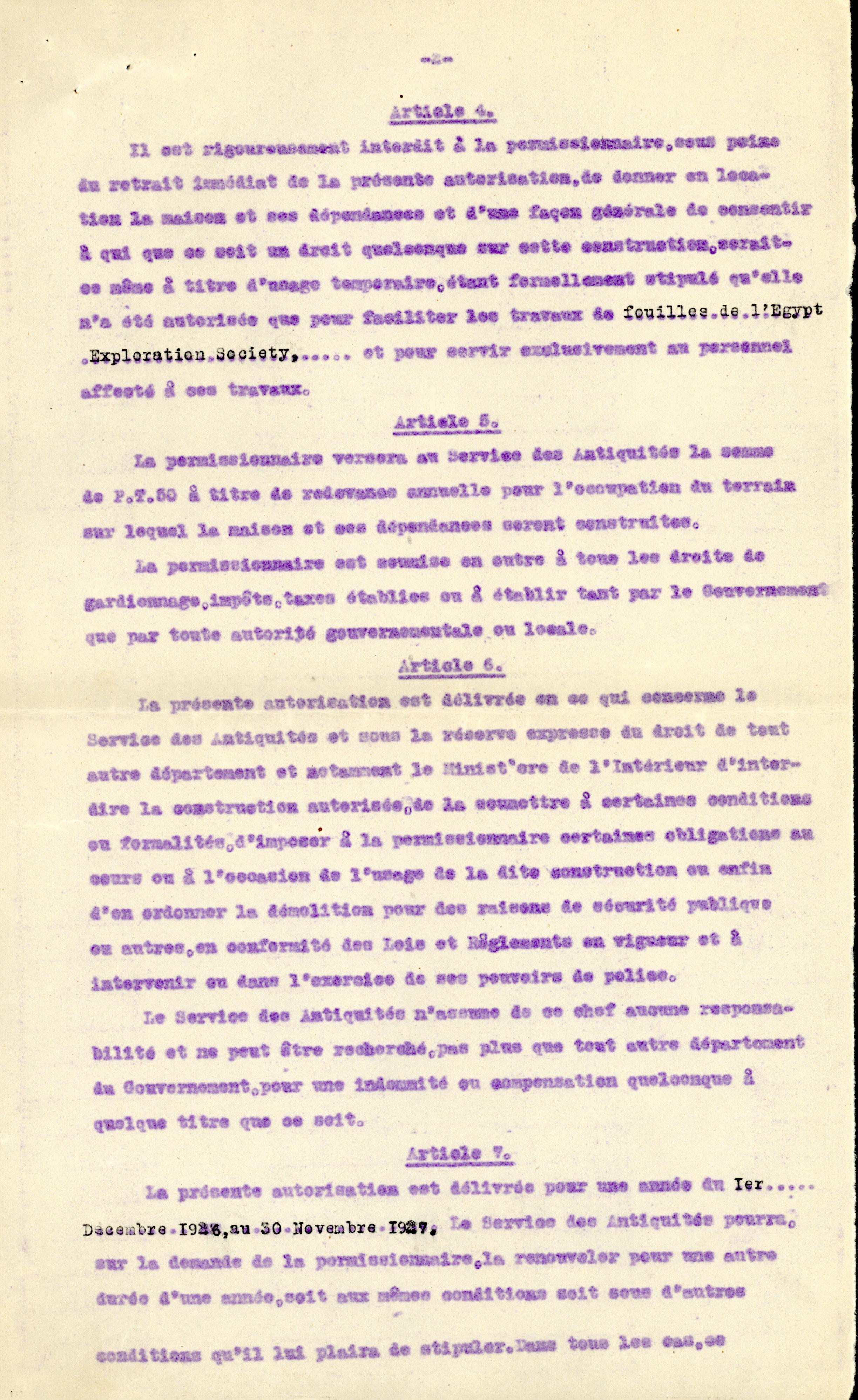 1926-39 correspondence with Antiquities Service DIST.50.11b