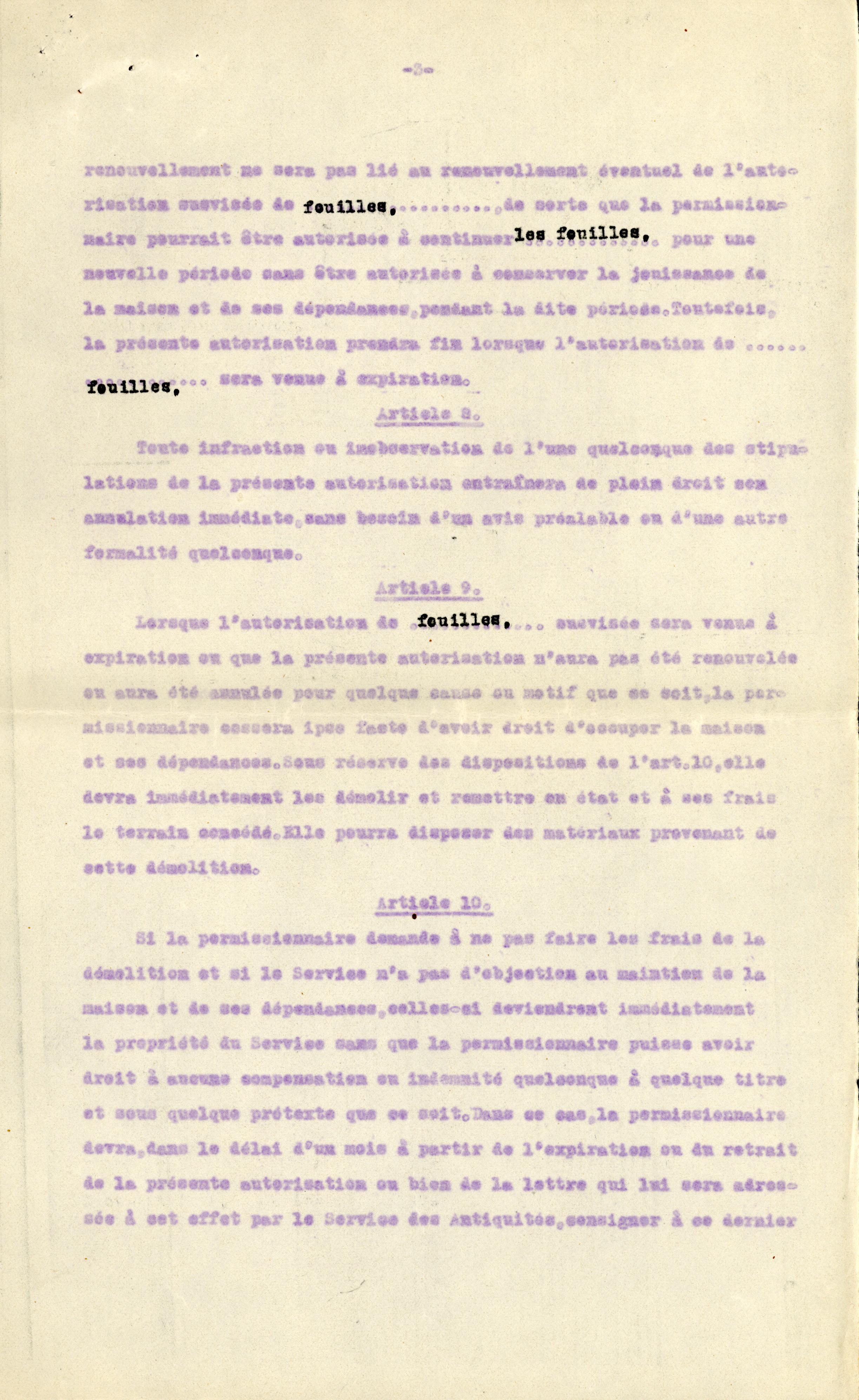 1926-39 correspondence with Antiquities Service DIST.50.11c