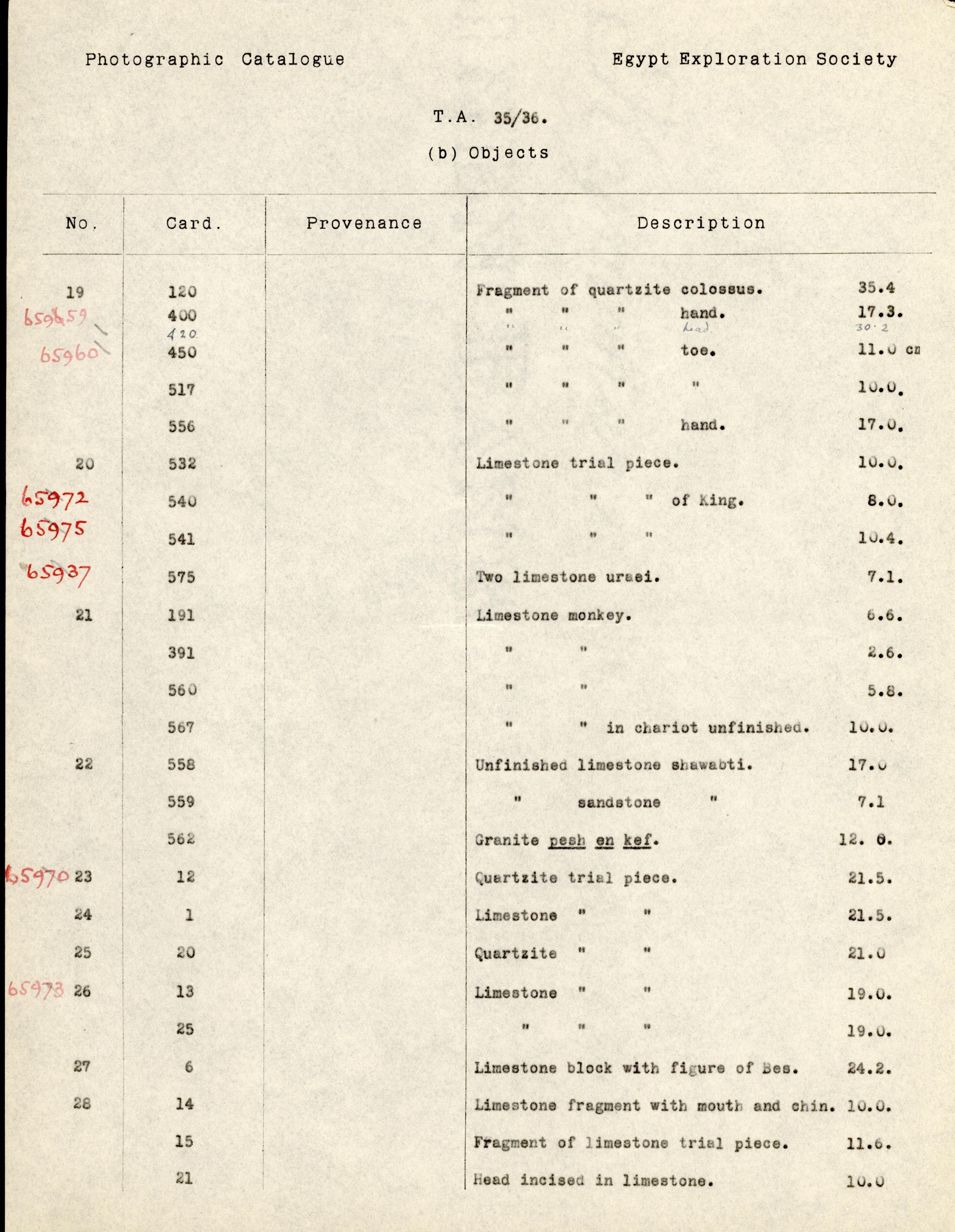 1926-39 correspondence with Antiquities Service DIST.50.60b