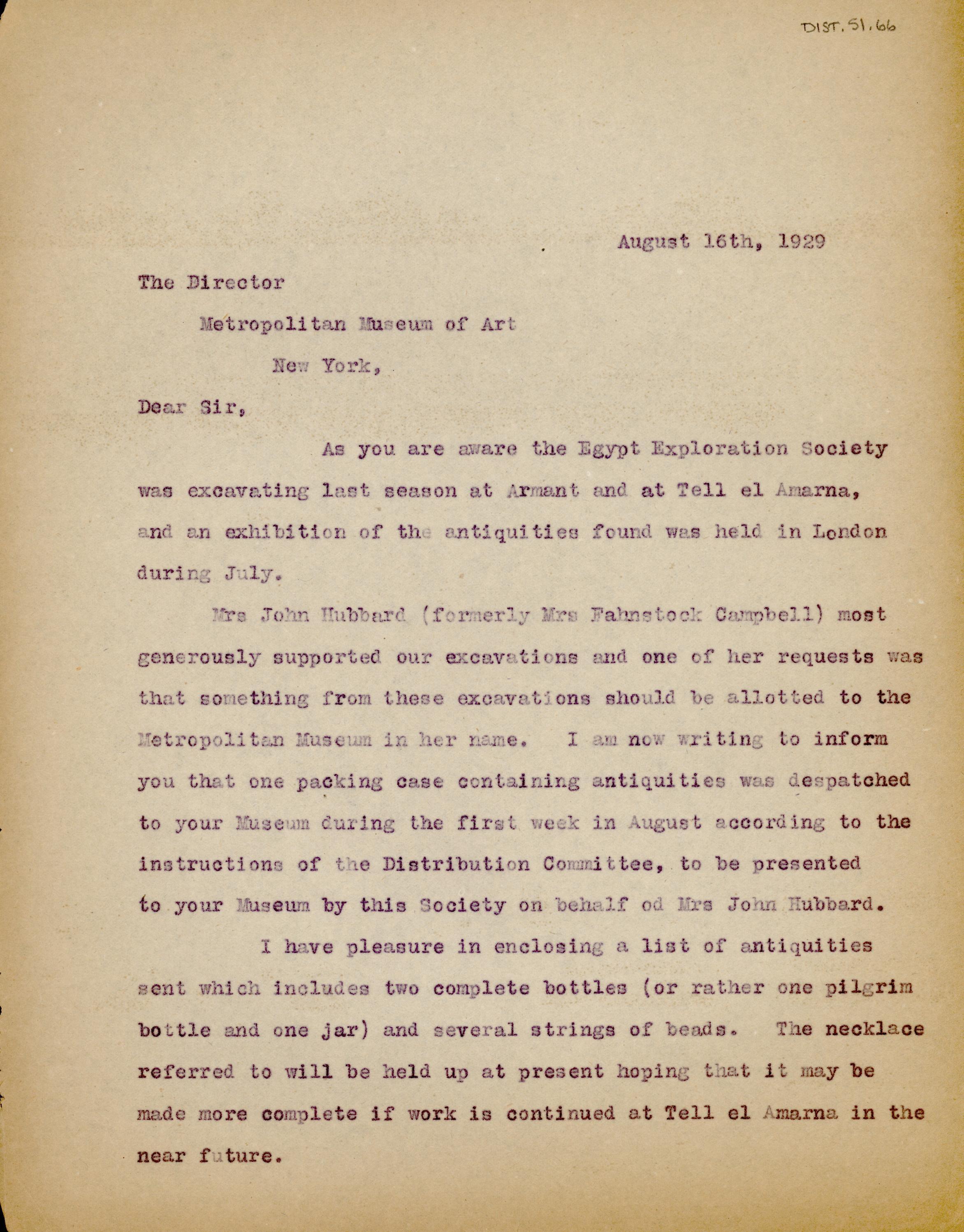 1928-29 el-Amarna and Armant DIST.51.66a