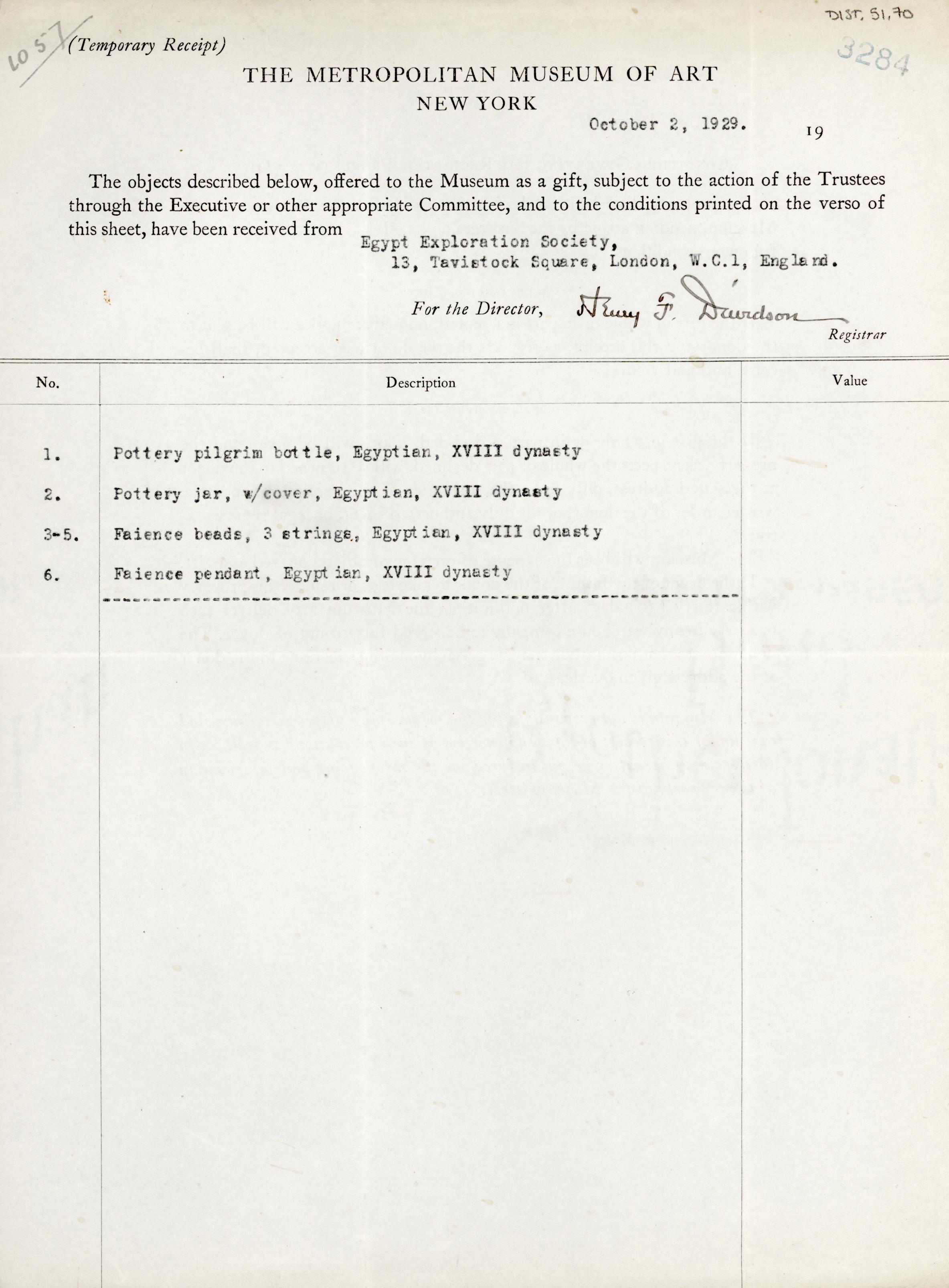 1928-29 el-Amarna and Armant DIST.51.70