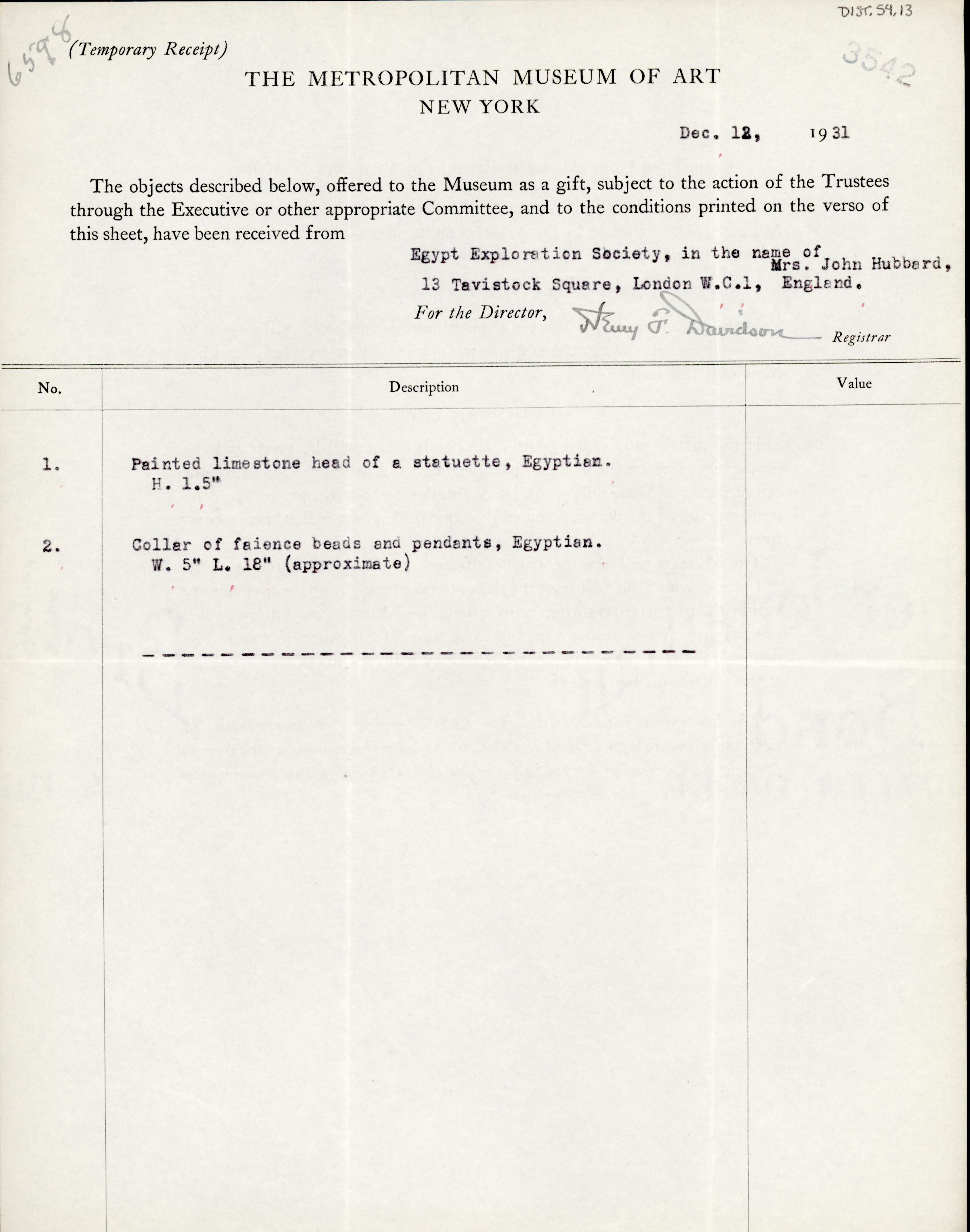 1931-32 el-Amarna and Armant DIST.54.13a