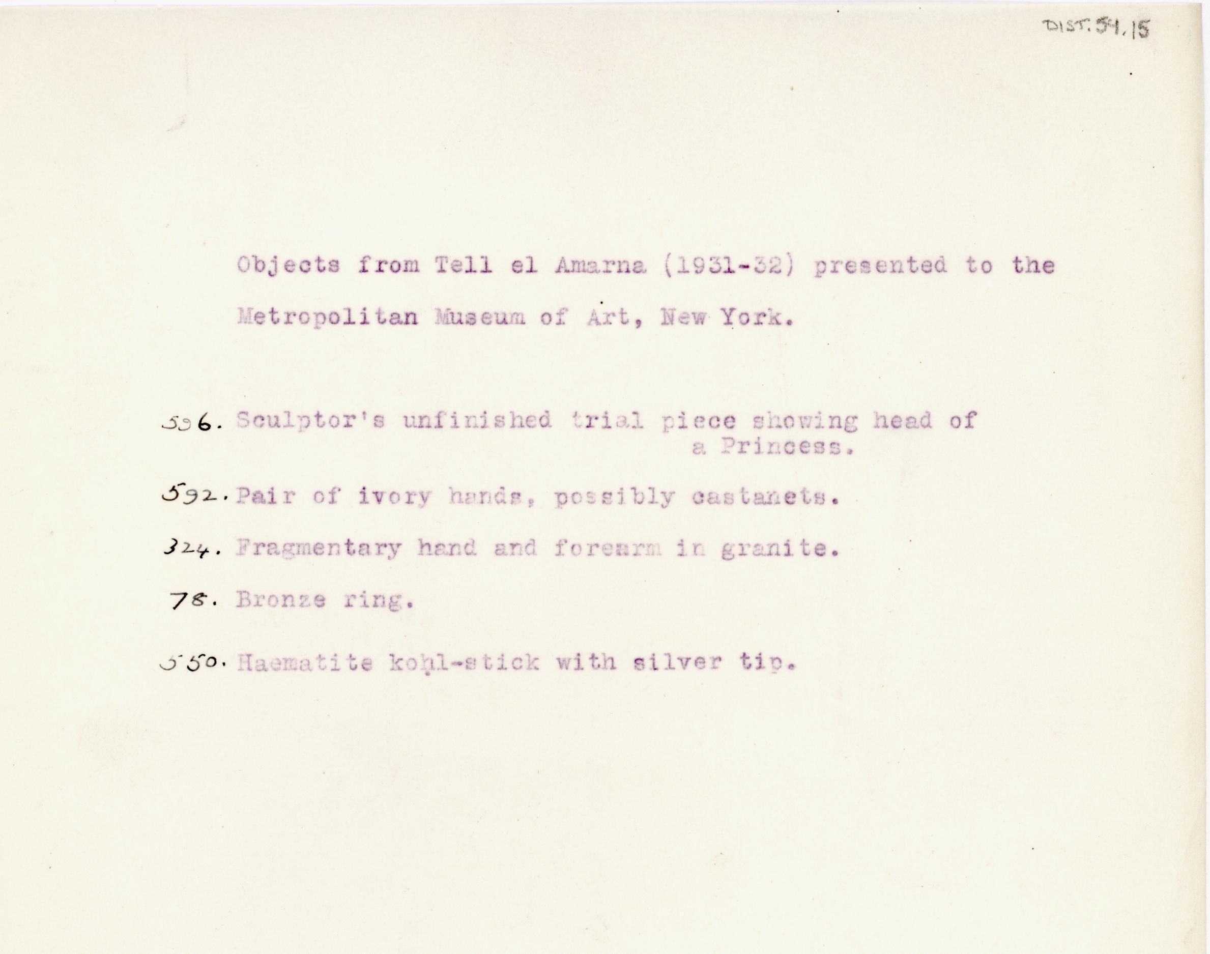 1931-32 el-Amarna and Armant DIST.54.15
