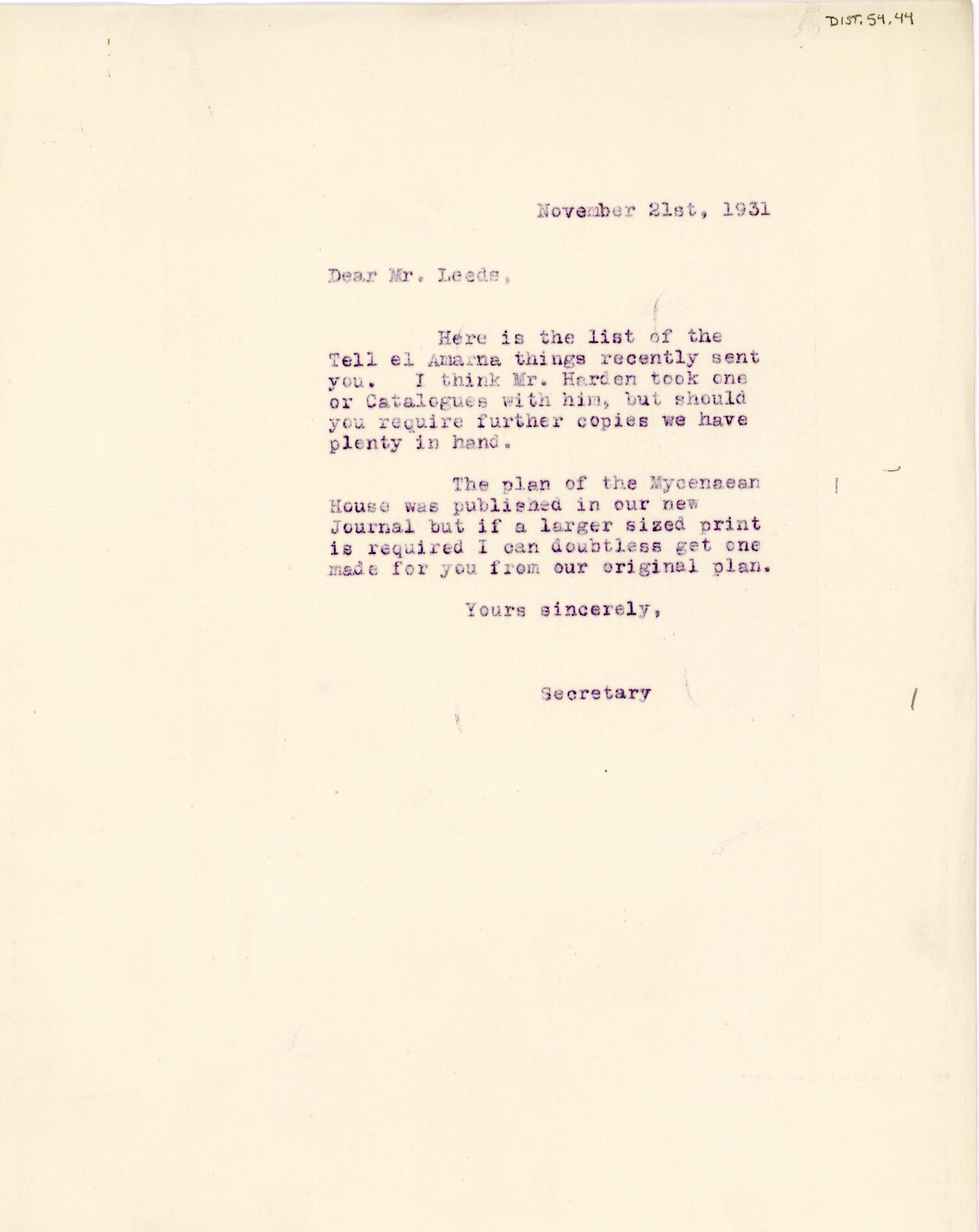 1931-32 el-Amarna and Armant DIST.54.44