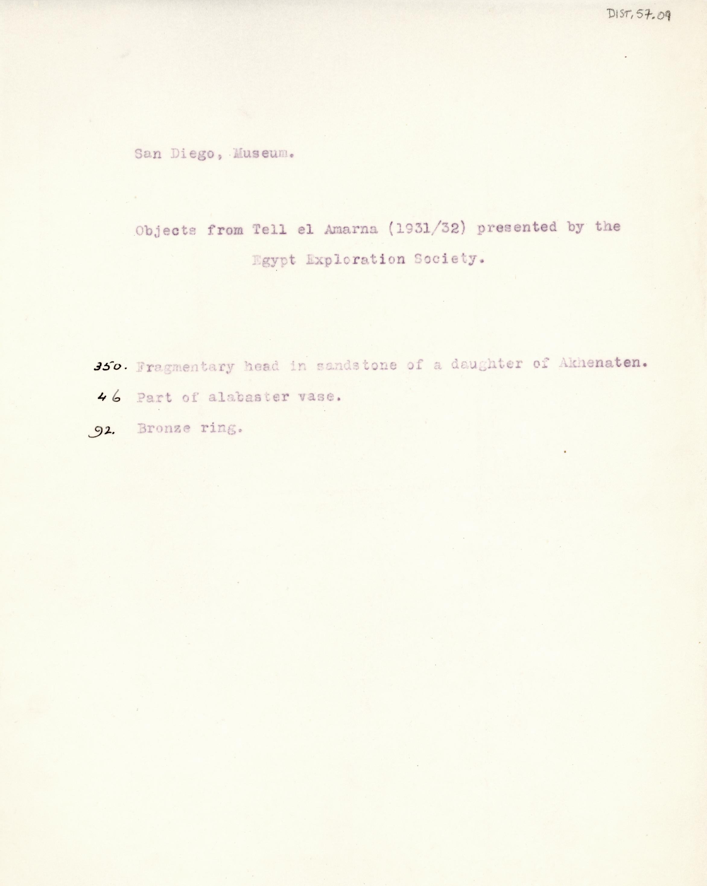 1931-34 el-Amarna DIST.57.09