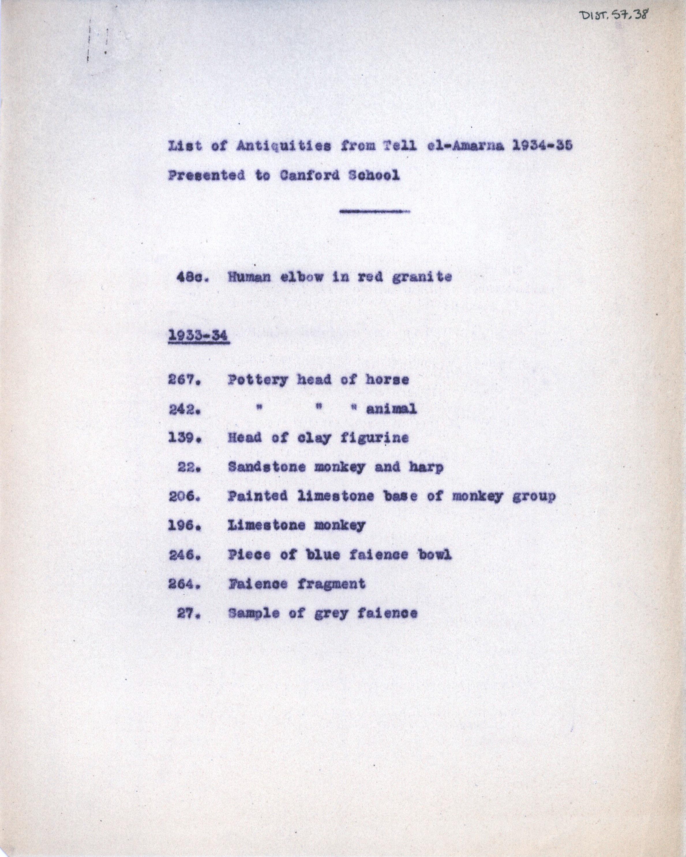 1931-34 el-Amarna DIST.57.38
