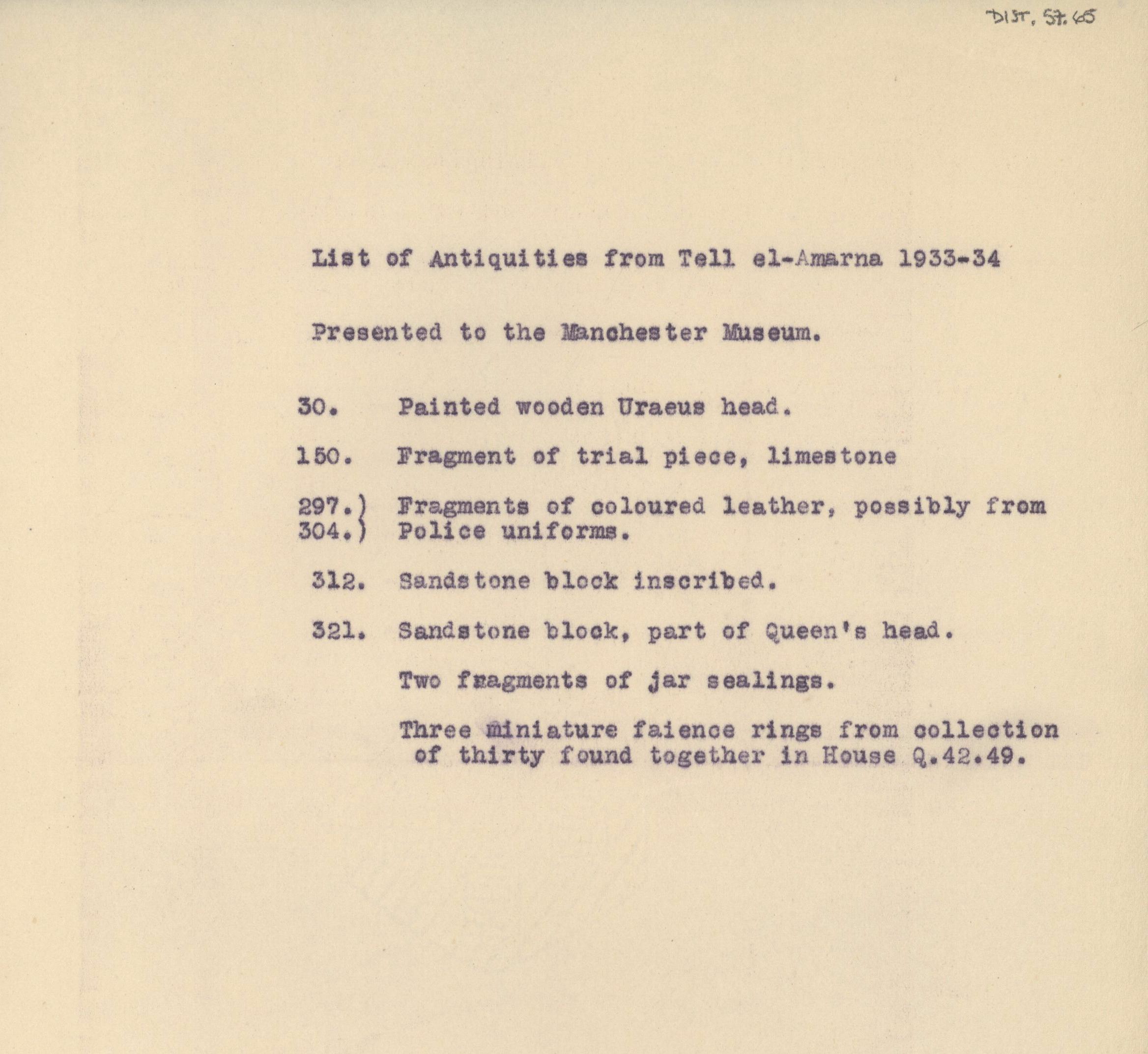 1931-34 el-Amarna DIST.57.65