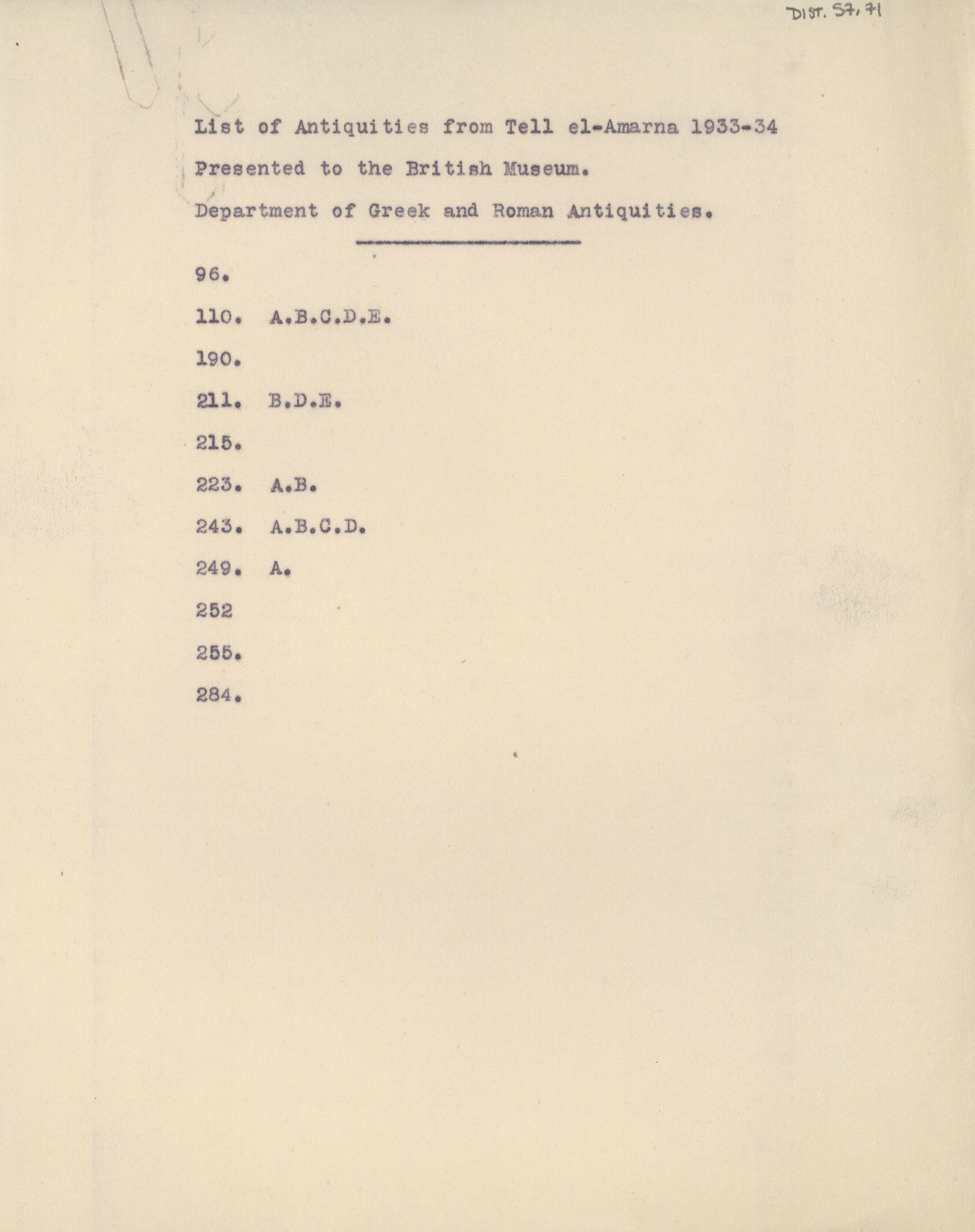 1931-34 el-Amarna DIST.57.71