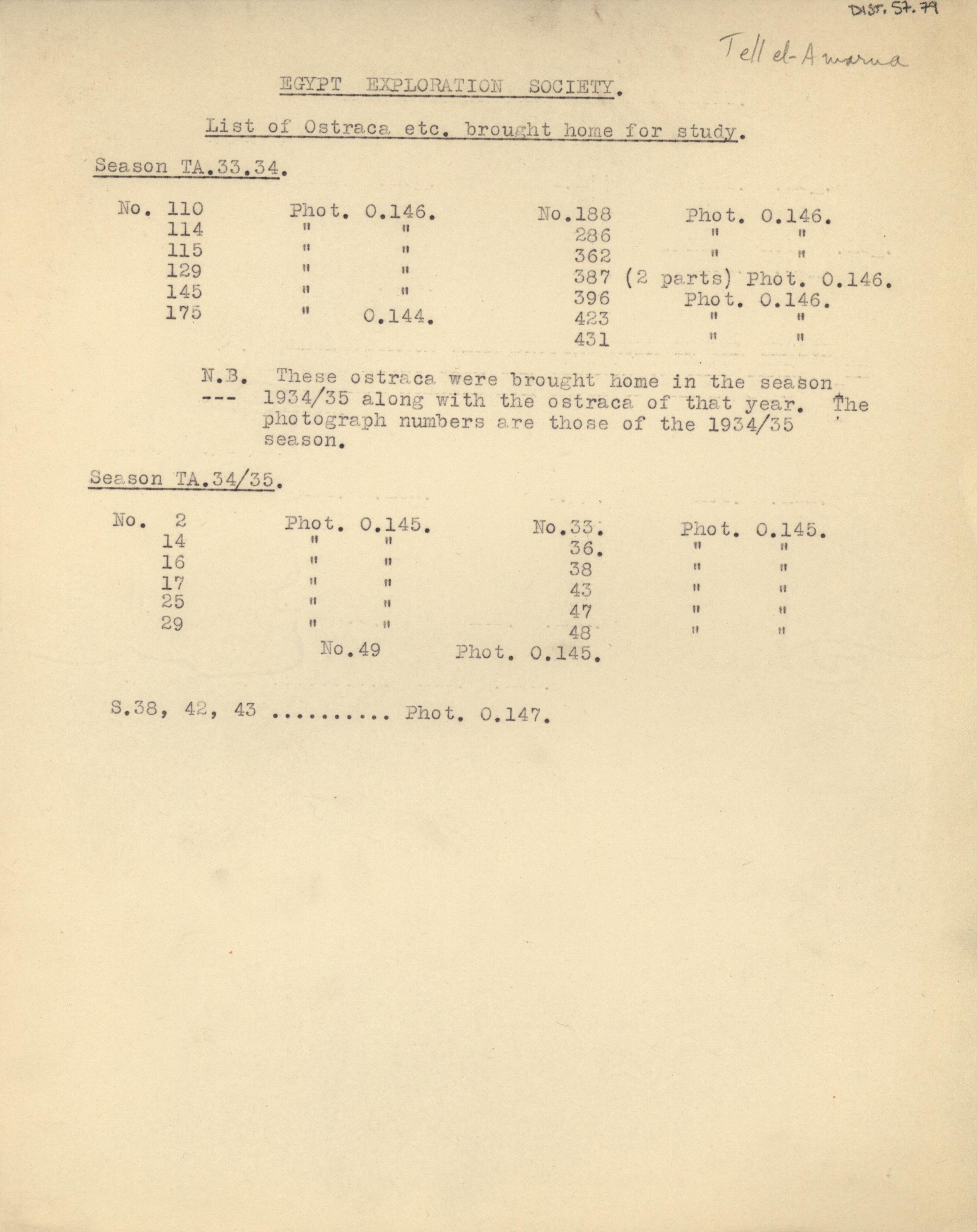 1931-34 el-Amarna DIST.57.79a