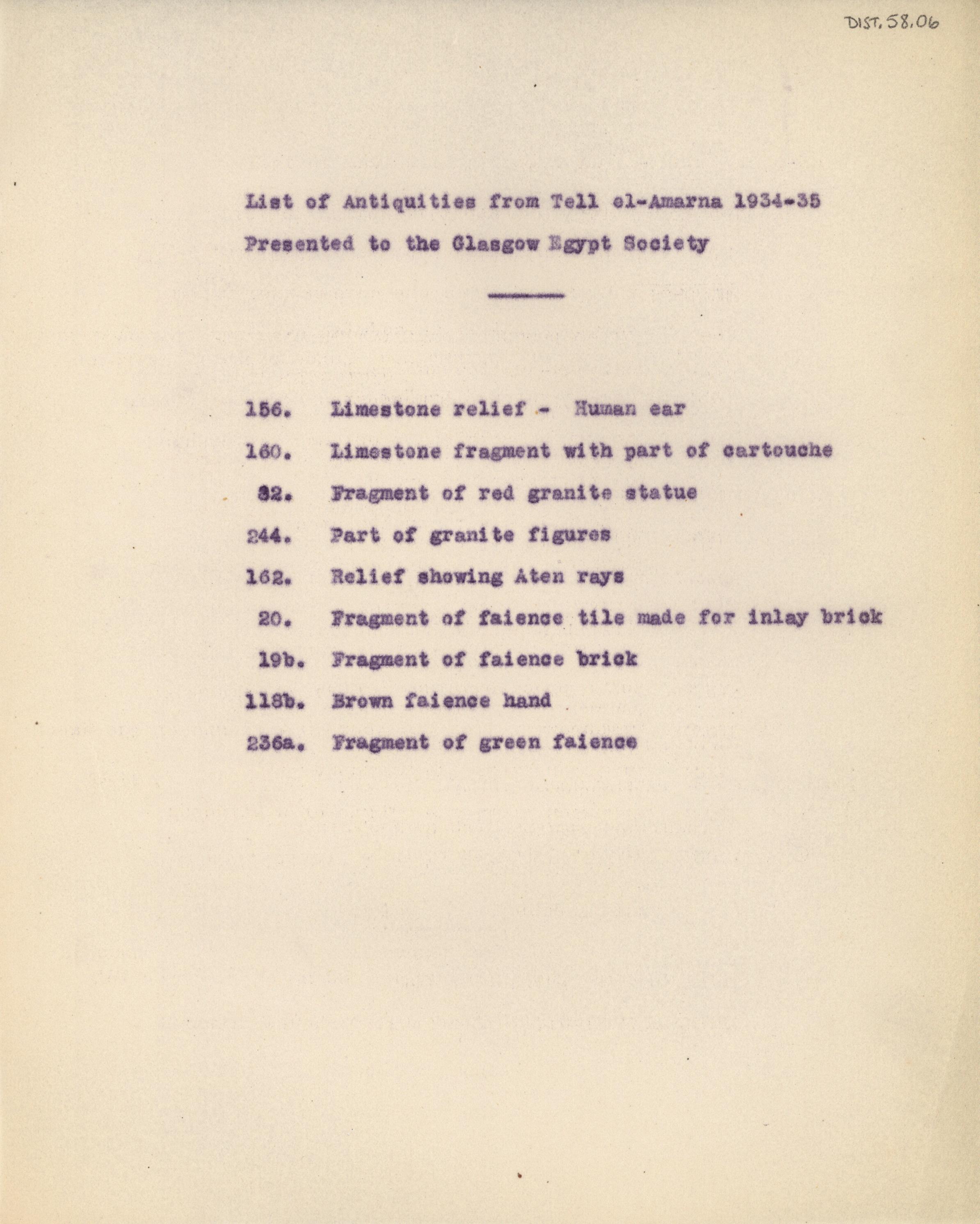 1934-35 el-Amarna DIST.58.06