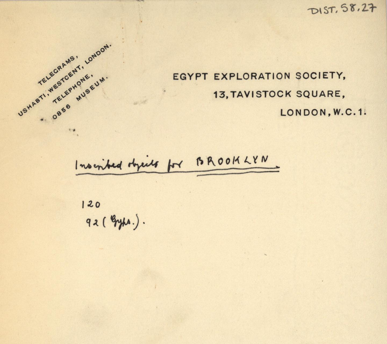1934-35 el-Amarna DIST.58.27