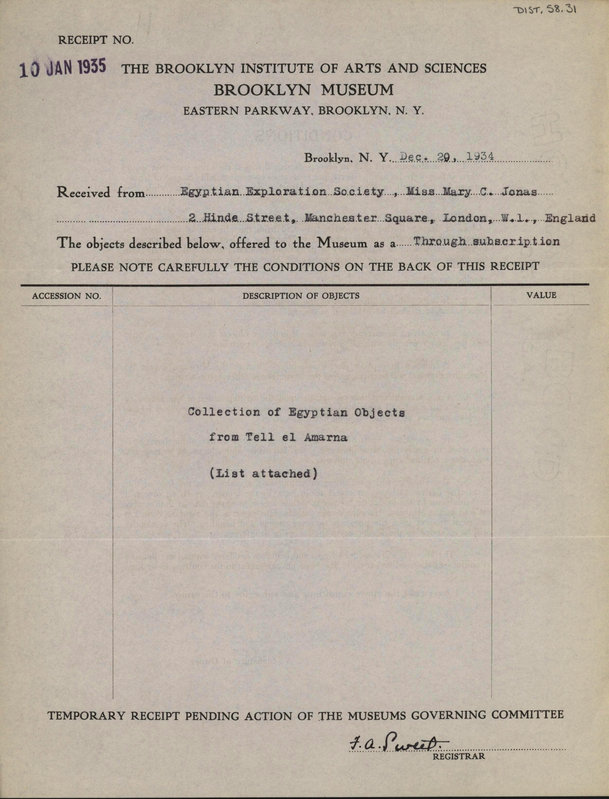 1934-35 el-Amarna DIST.58.31a