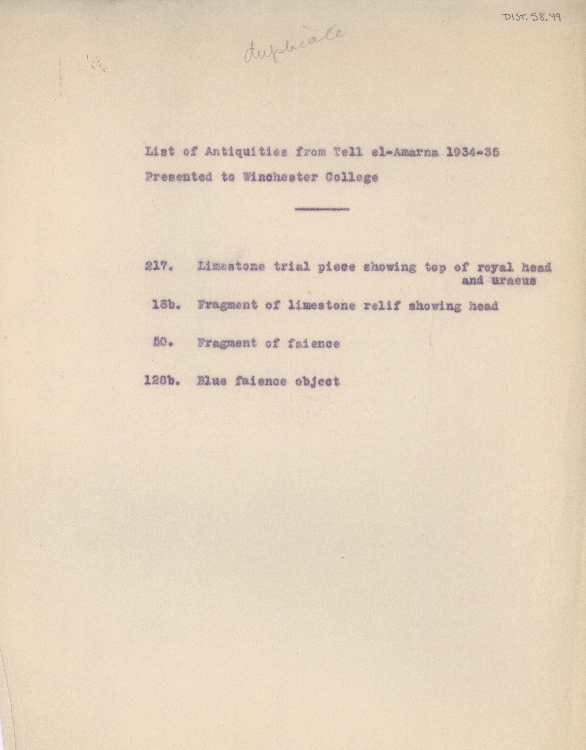 1934-35 el-Amarna DIST.58.49