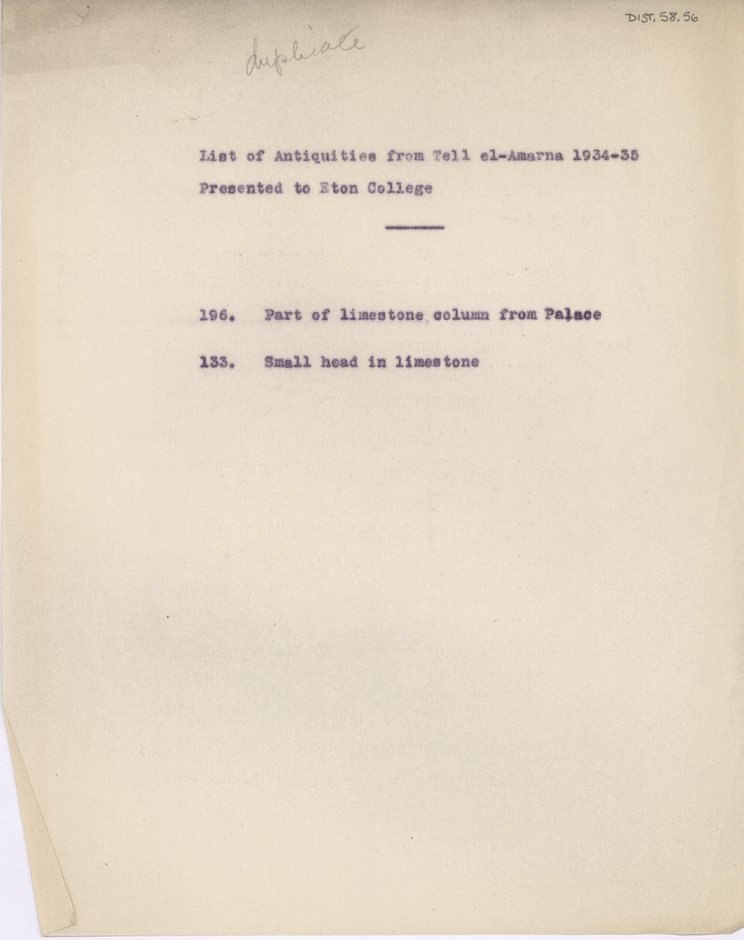 1934-35 el-Amarna DIST.58.56