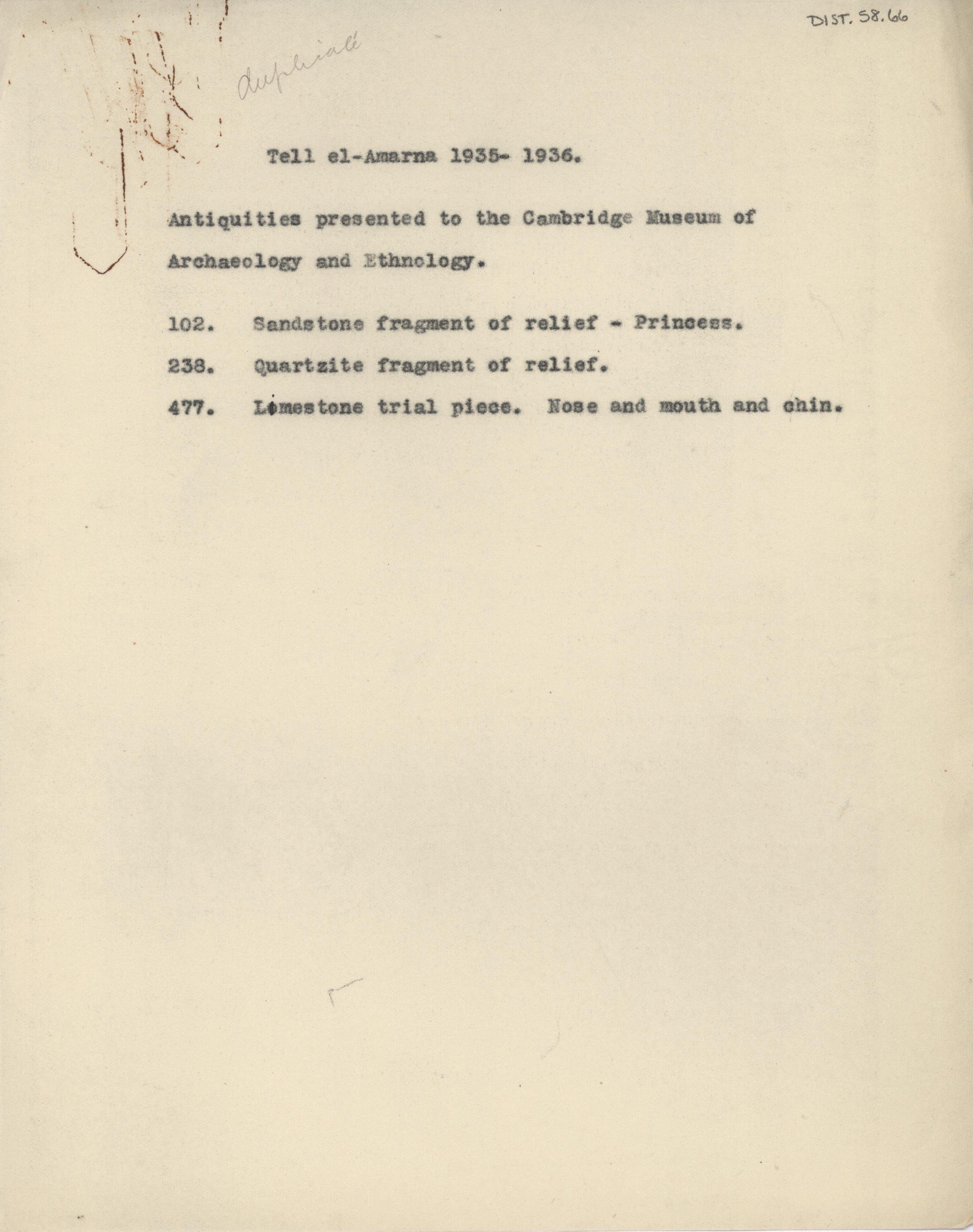 1934-35 el-Amarna DIST.58.66
