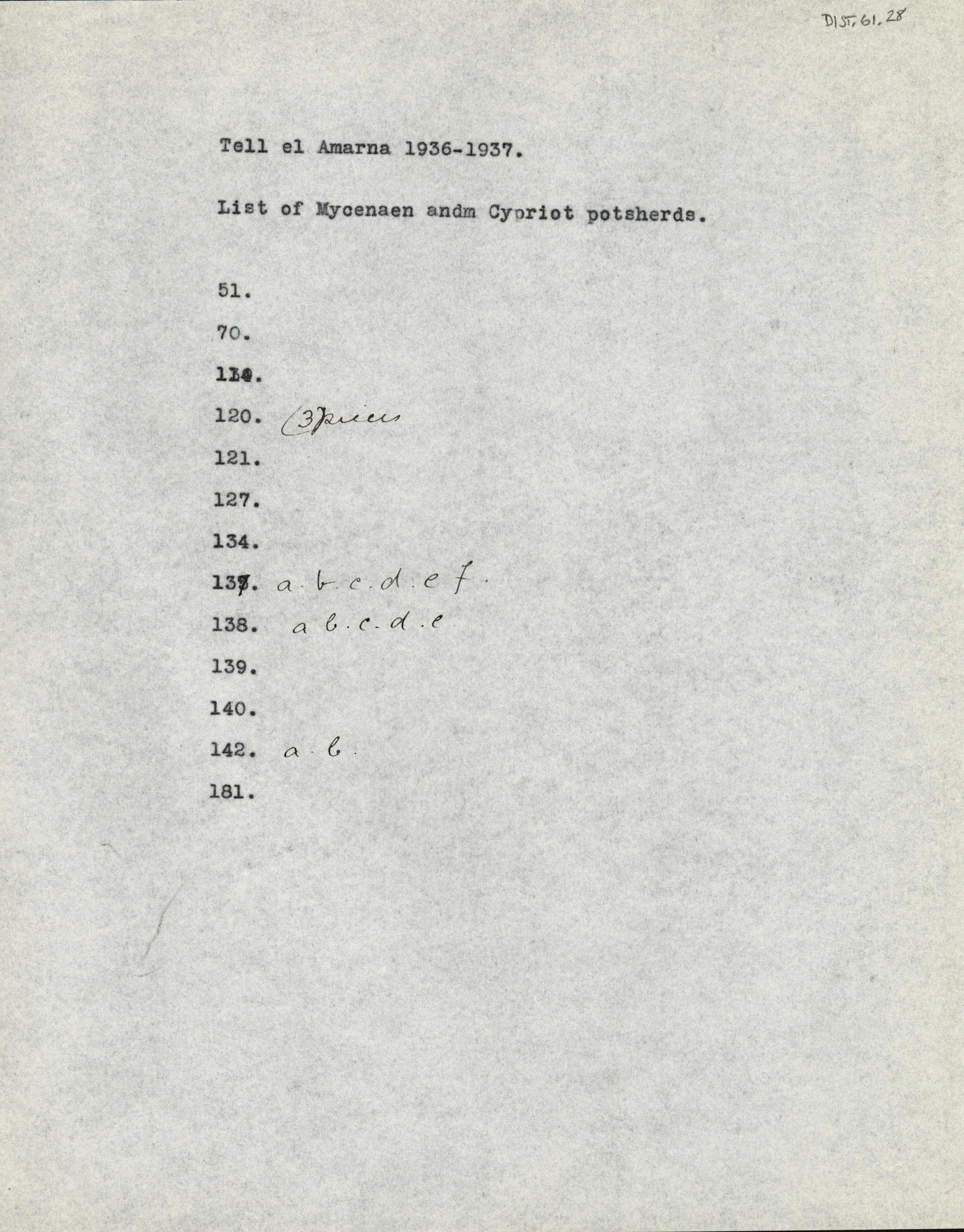 1936-37 el-Amarna DIST.61.28