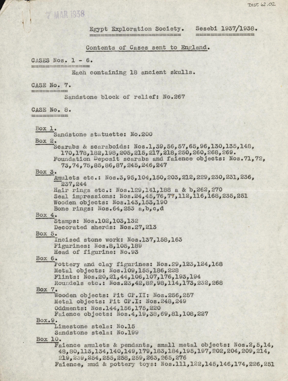 1936-38 Amarah West, Sesebi DIST.62.02a