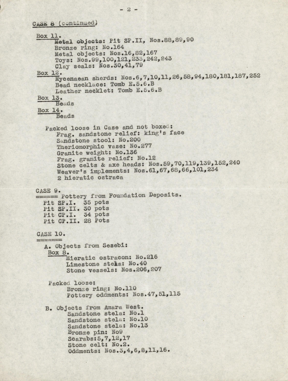 1936-38 Amarah West, Sesebi DIST.62.02b