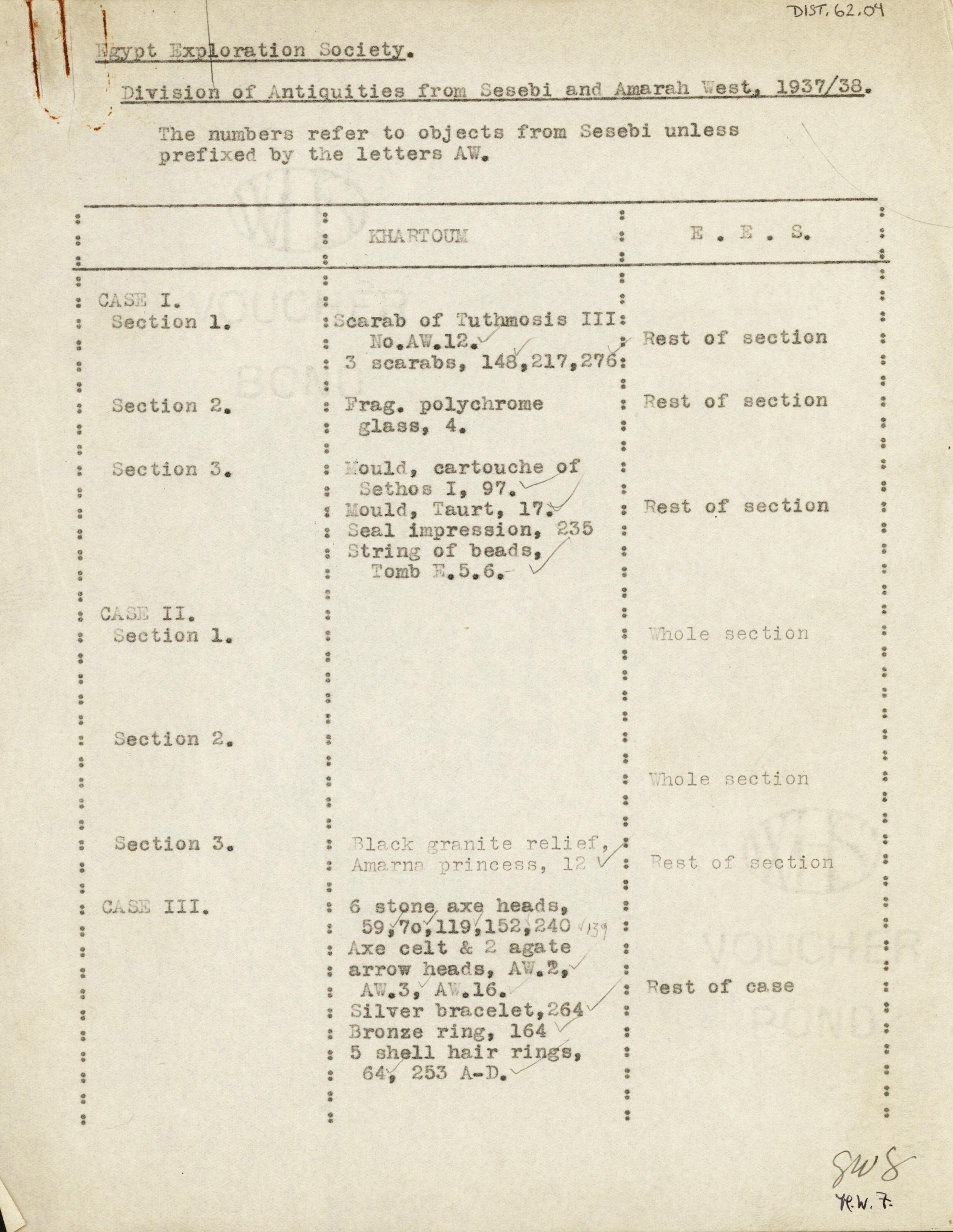 1936-38 Amarah West, Sesebi DIST.62.04a