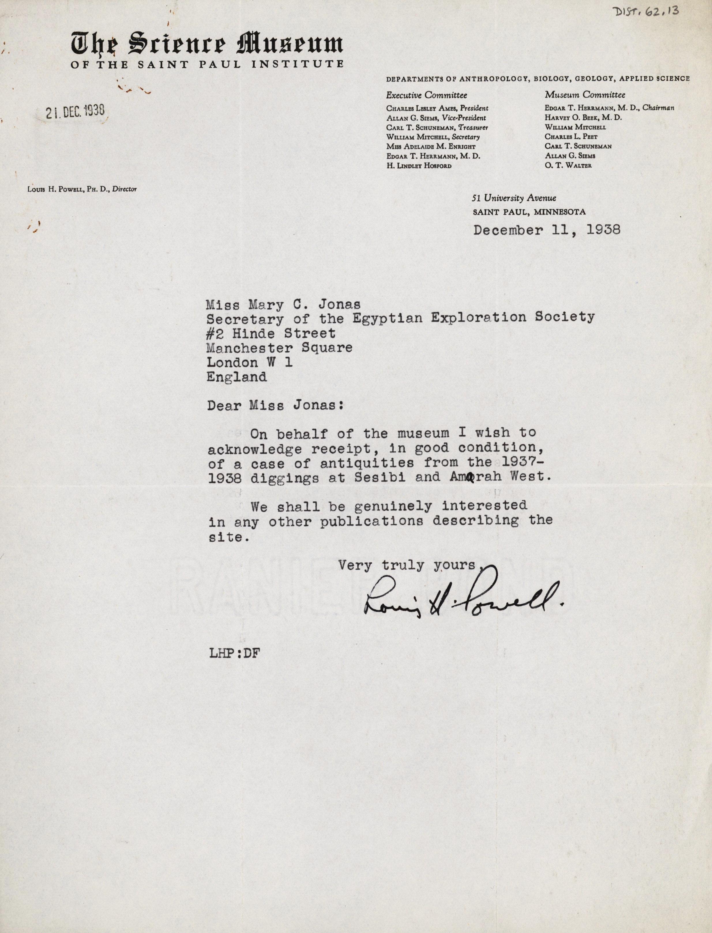 1936-38 Amarah West, Sesebi DIST.62.13
