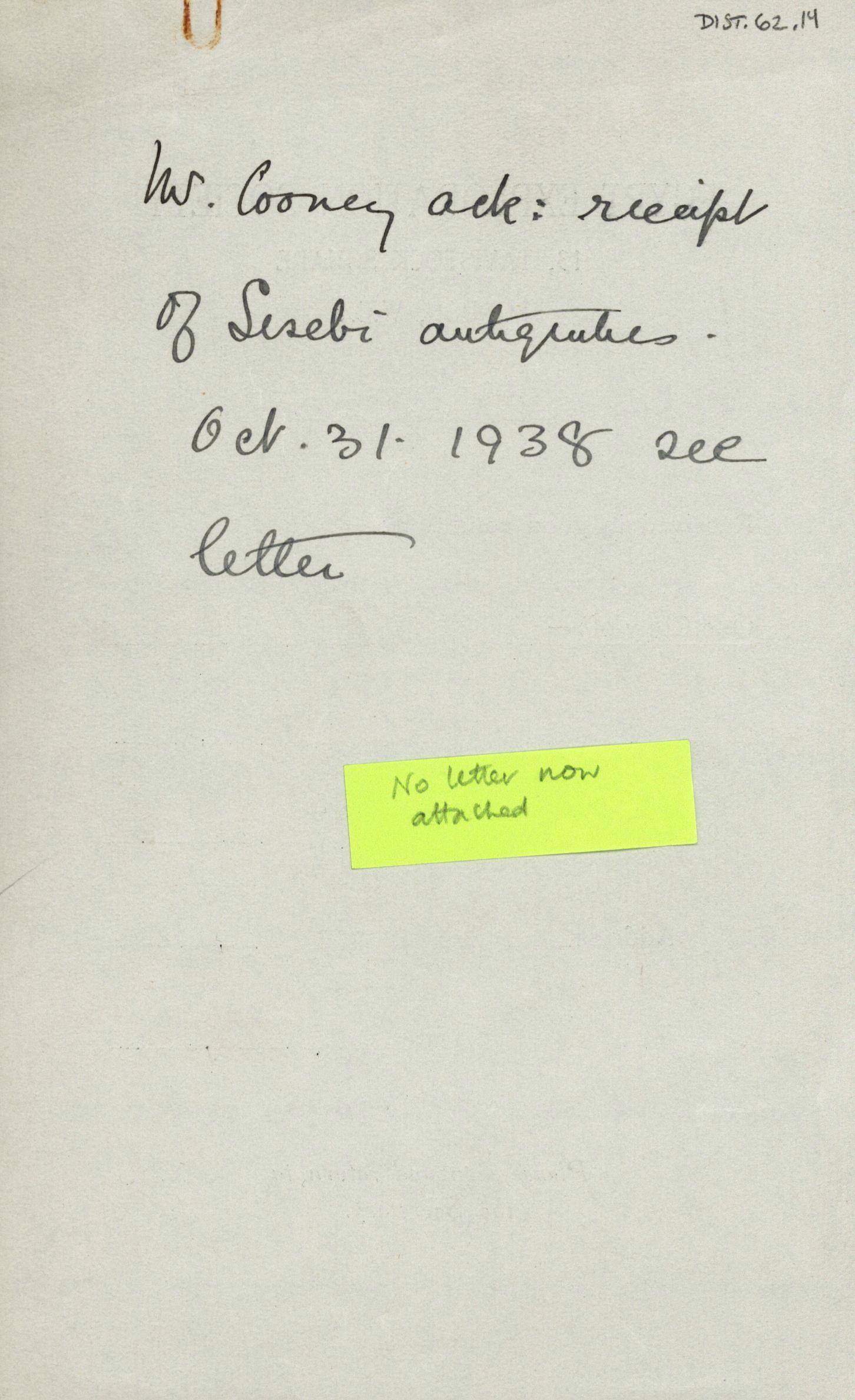 1936-38 Amarah West, Sesebi DIST.62.14