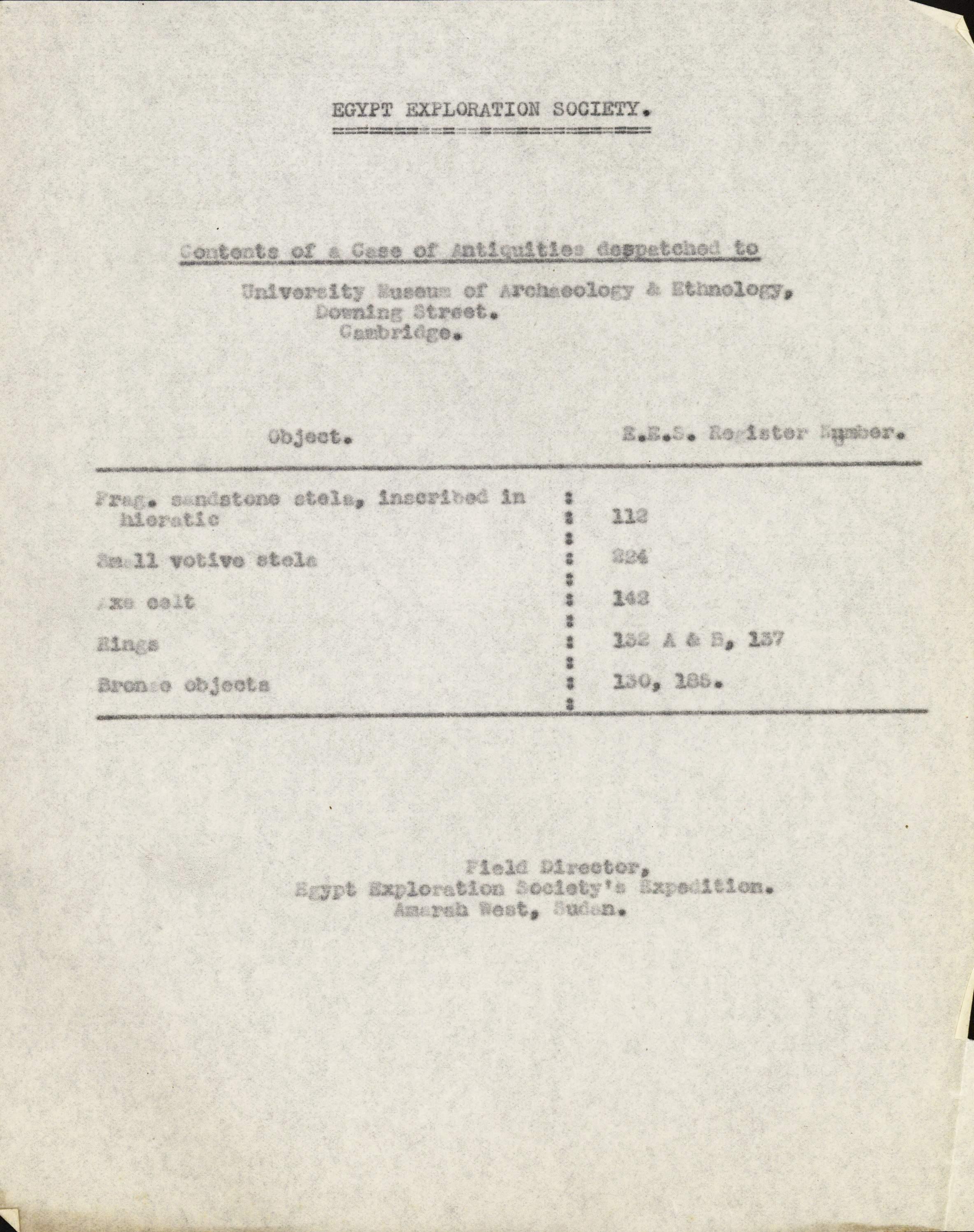 1938-1983 Amarah West, Sesebi DIST.63.10b