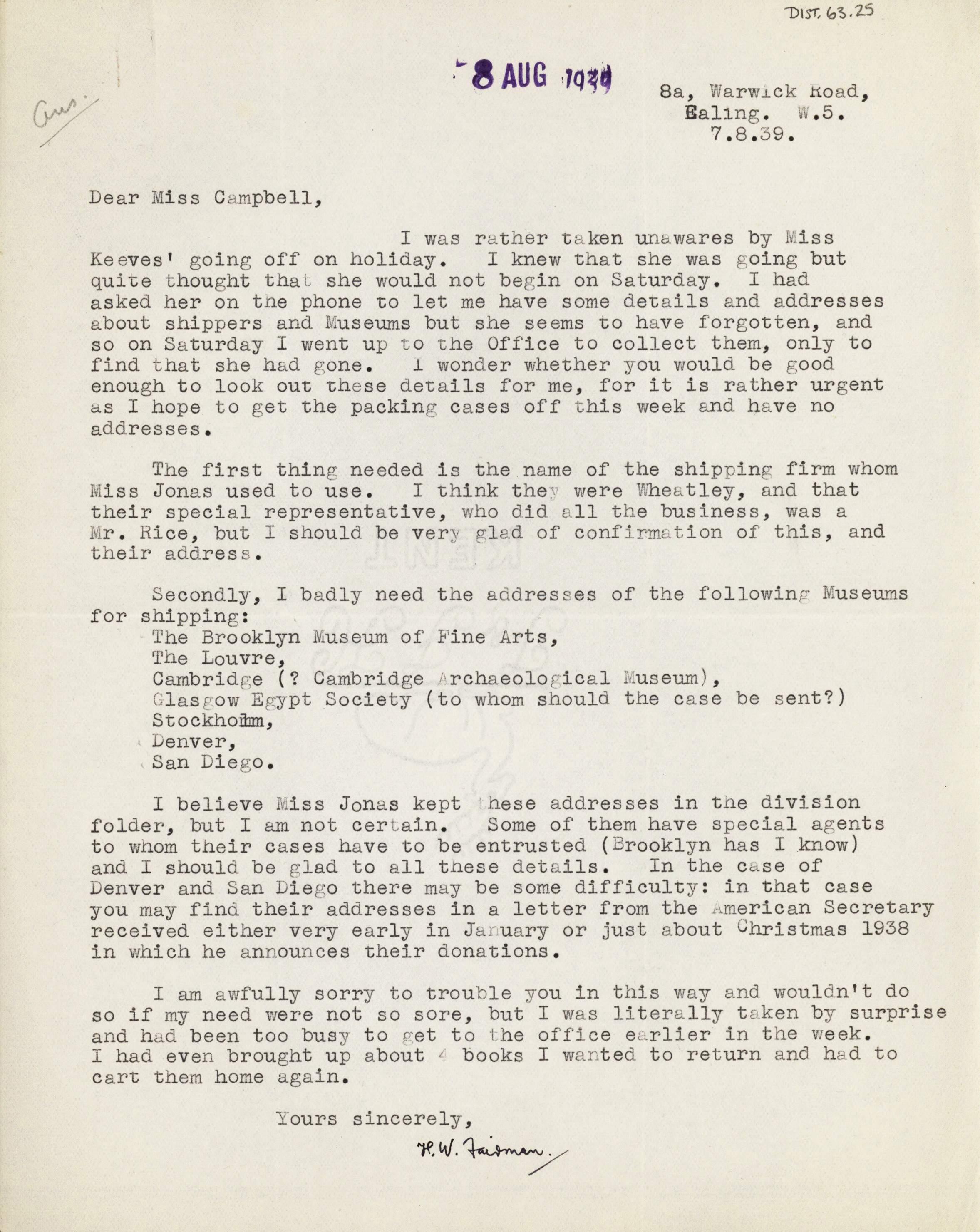 1936-39 Amarah West, Sesebi DIST.63.25
