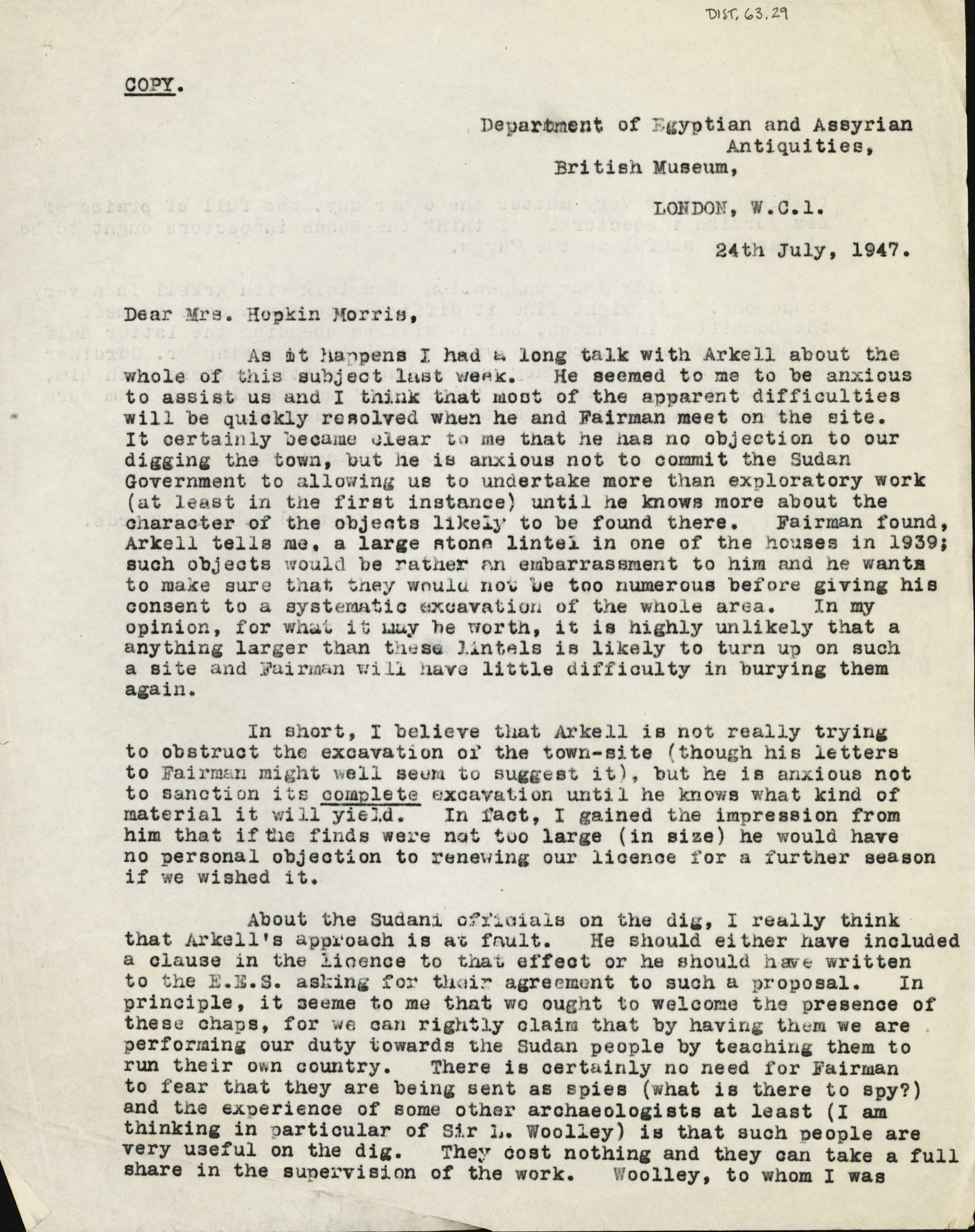 1936-39 Amarah West, Sesebi DIST.63.29a